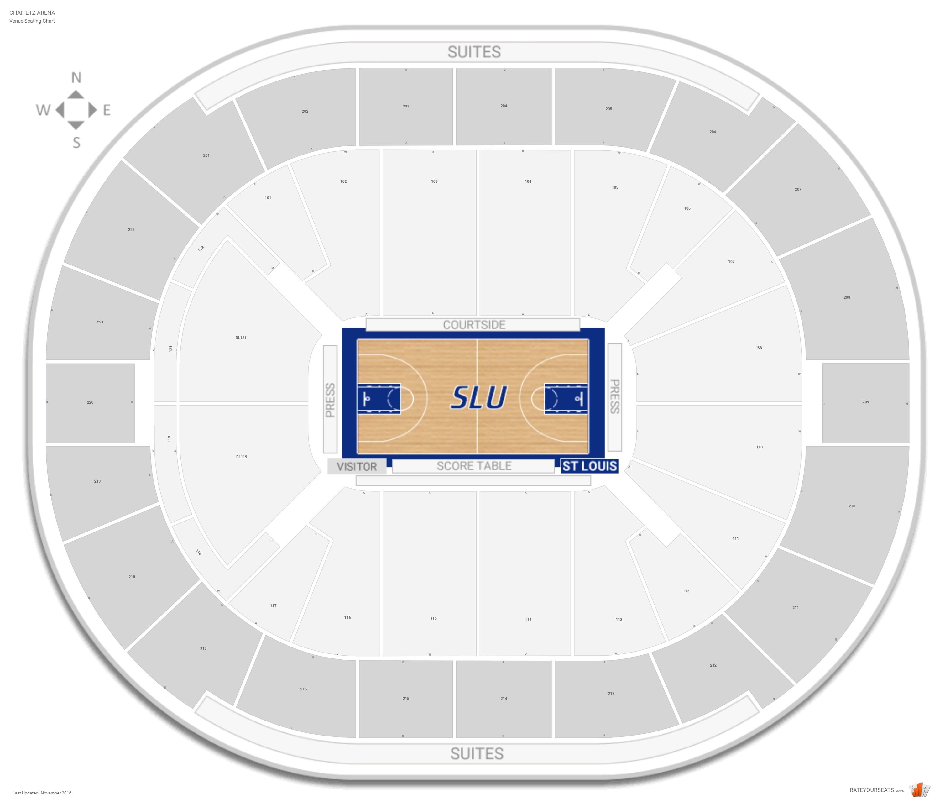Chaifetz arena saint louis seating guide rateyourseats com