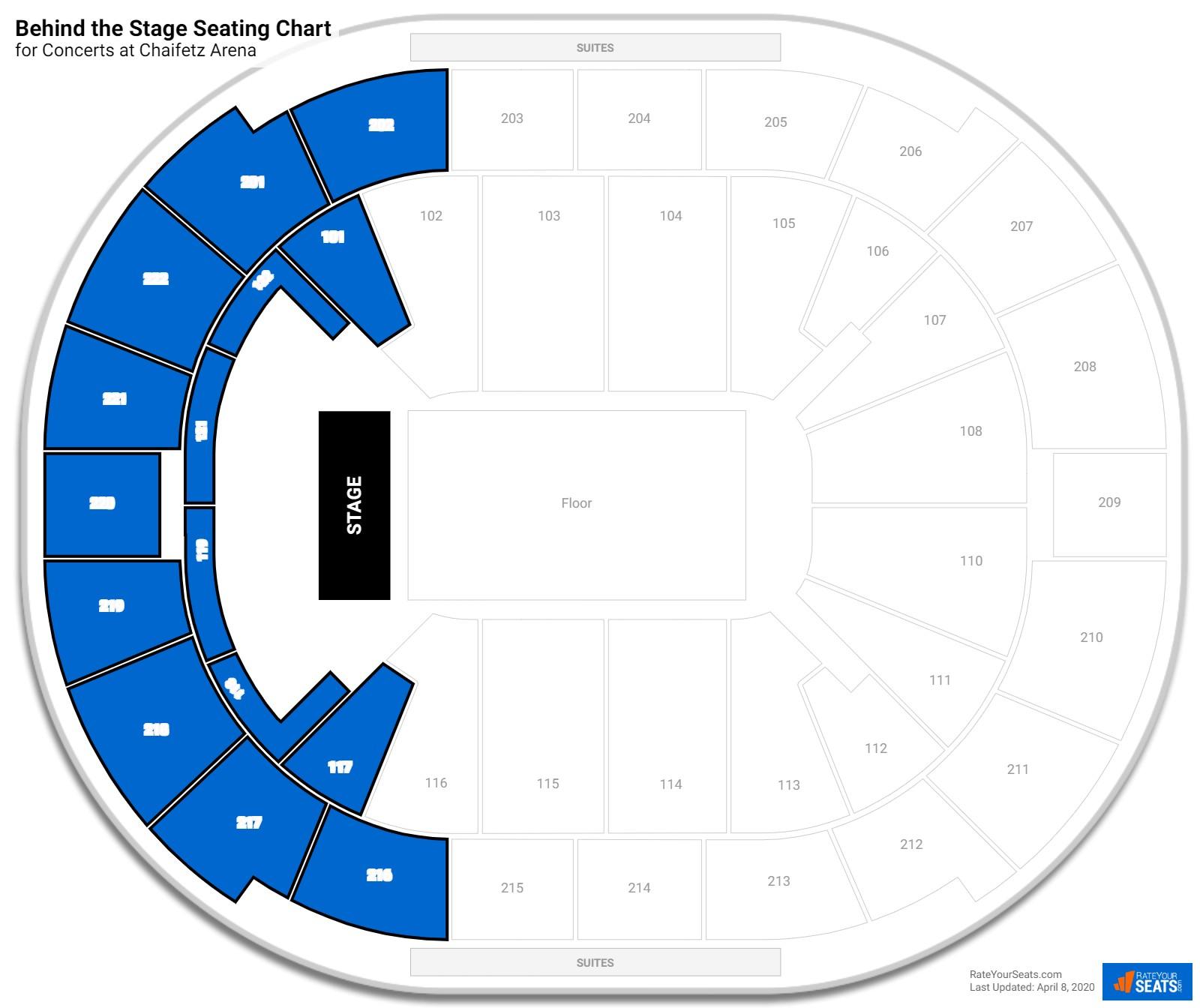 Chaifetz arena concert seating guide rateyourseats com