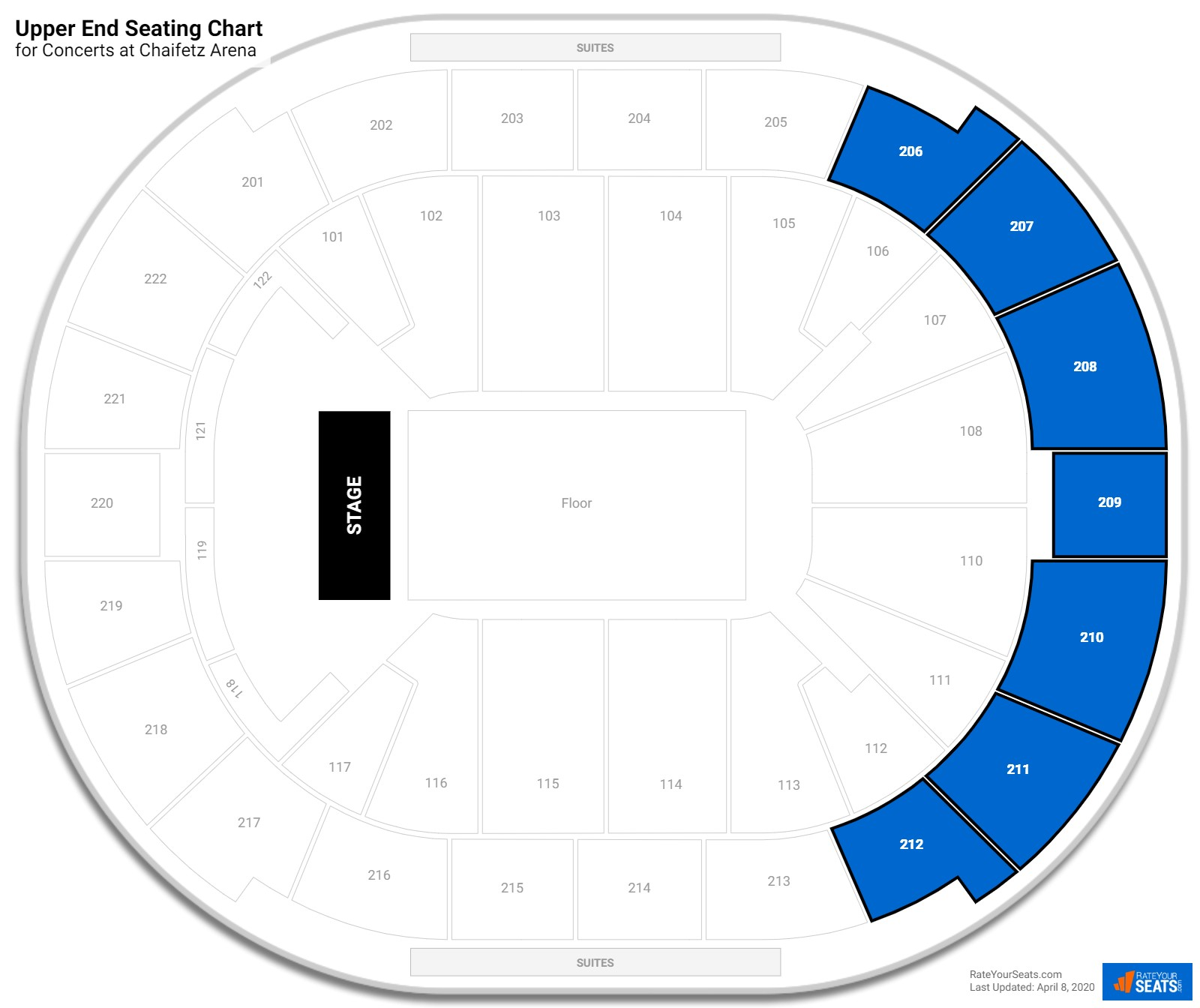 Chaifetz Arena Upper End seating chart