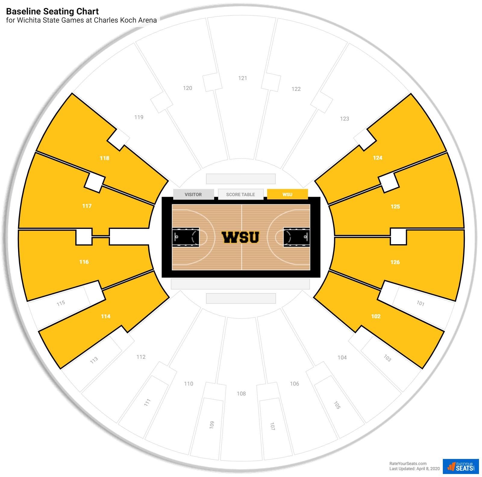 Charles Koch Arena Wichita State Seating Guide Rateyourseatscom