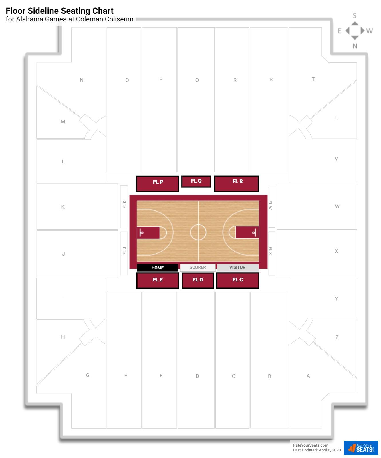 Coleman coliseum alabama seating guide rateyourseats com