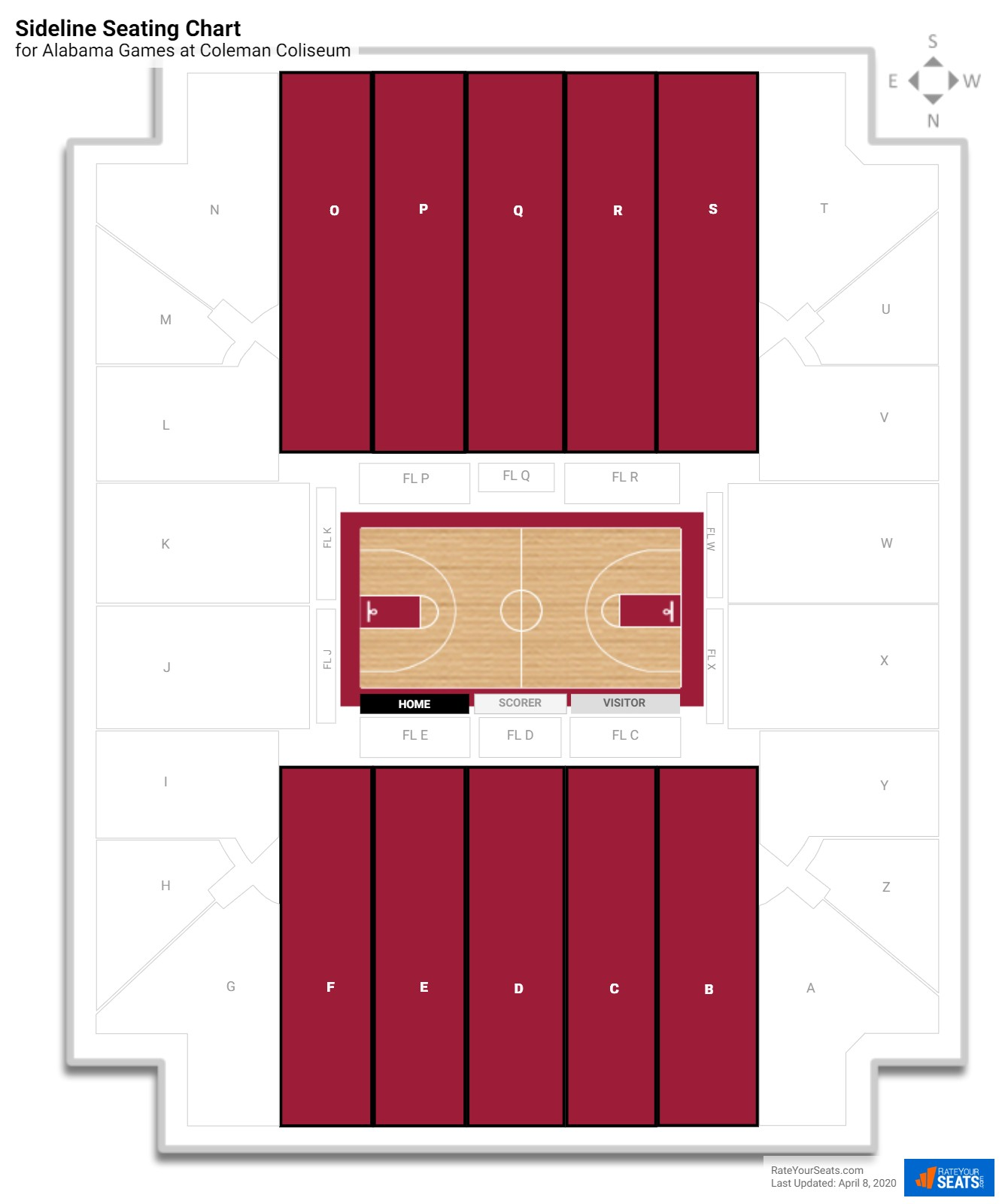 Coleman Coliseum Alabama Seating Guide Rateyourseats Com