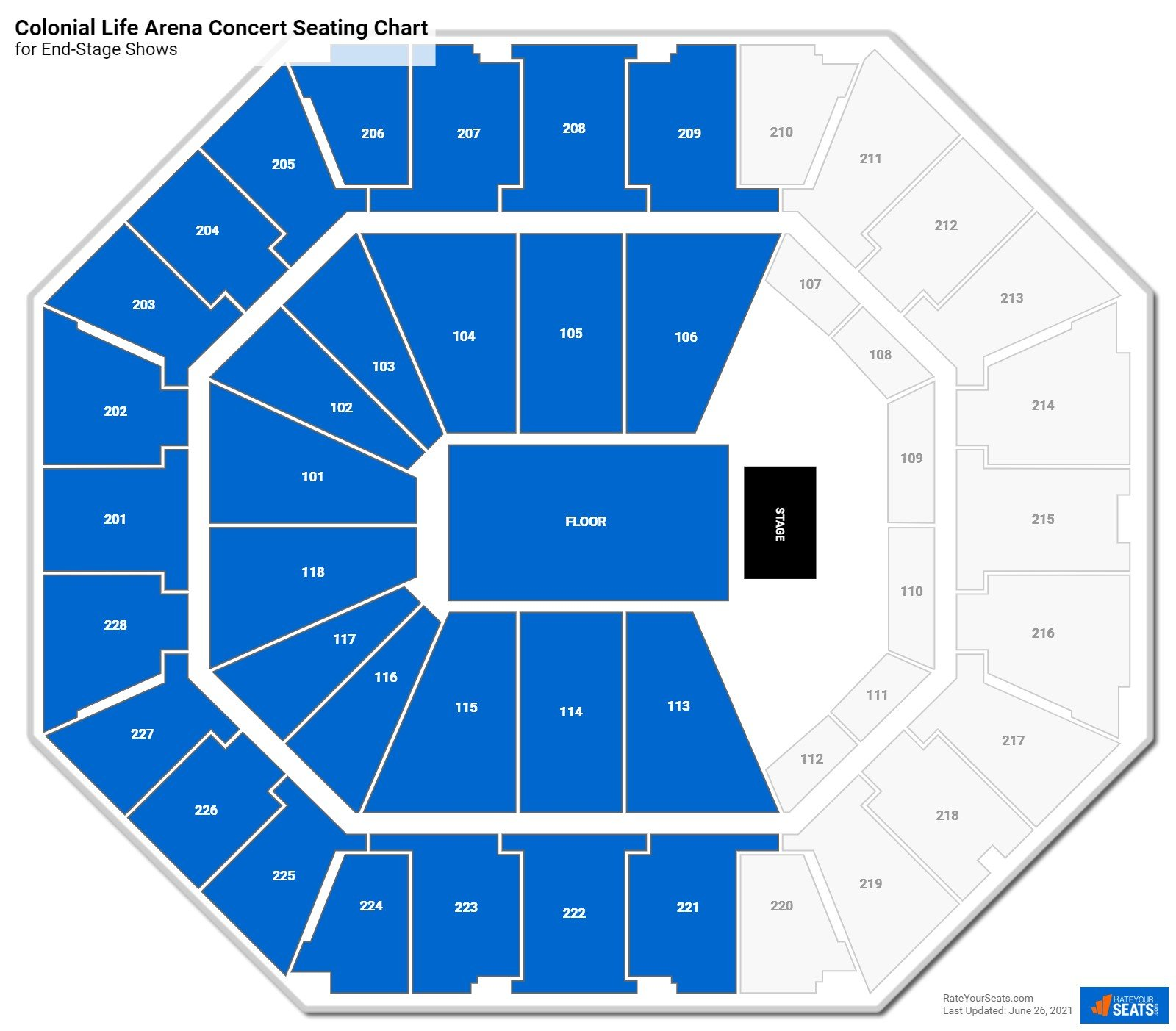 Colonial Life Arena Seating Chart for Concerts