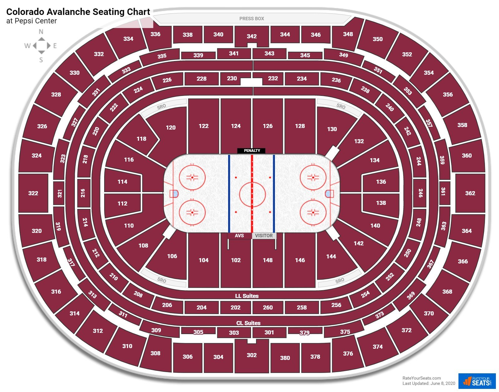 How Many Seats In Section 108 Row 12 At Pepsi Center Rateyourseats Com