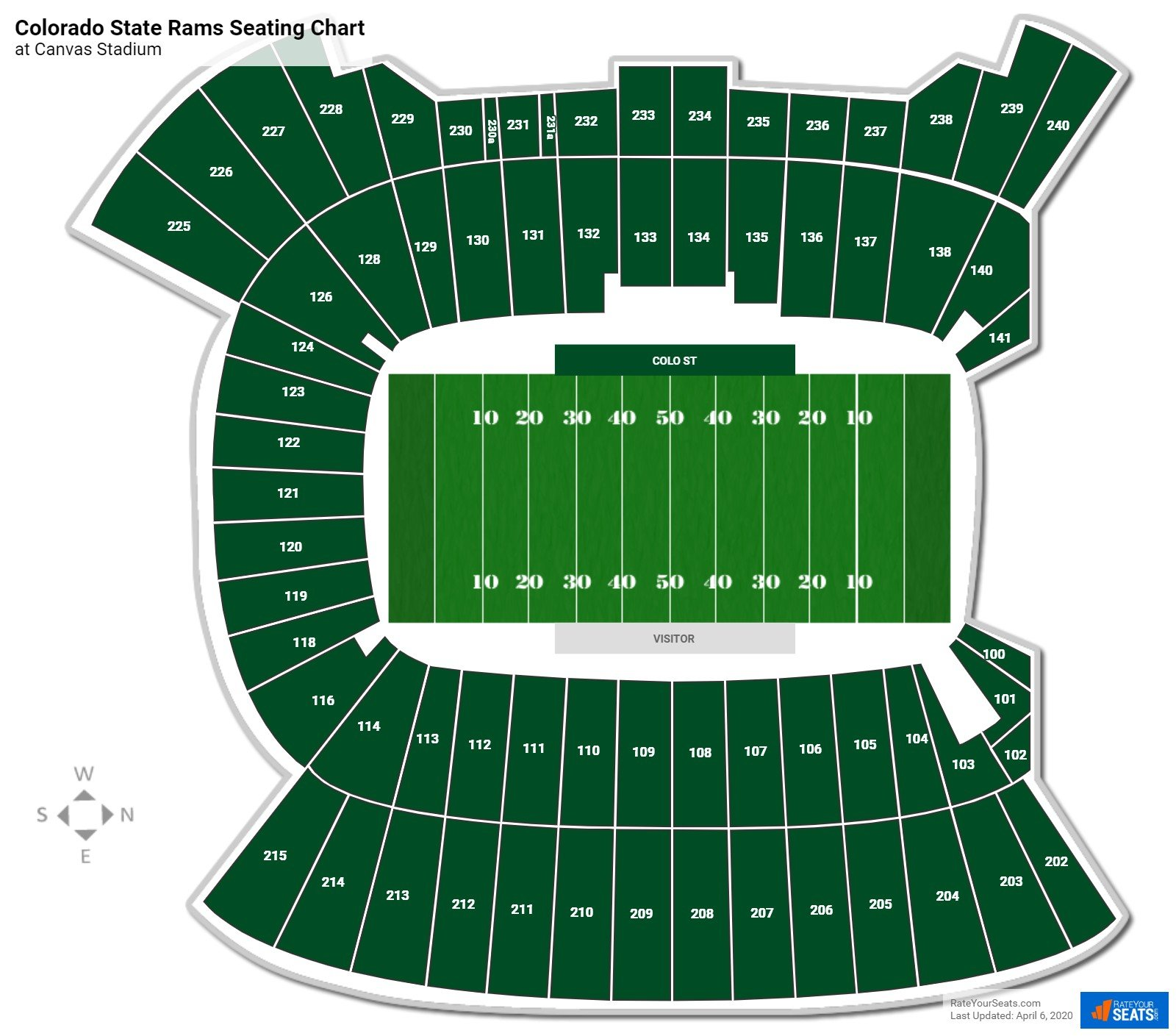 Colorado State Football Seating Chart