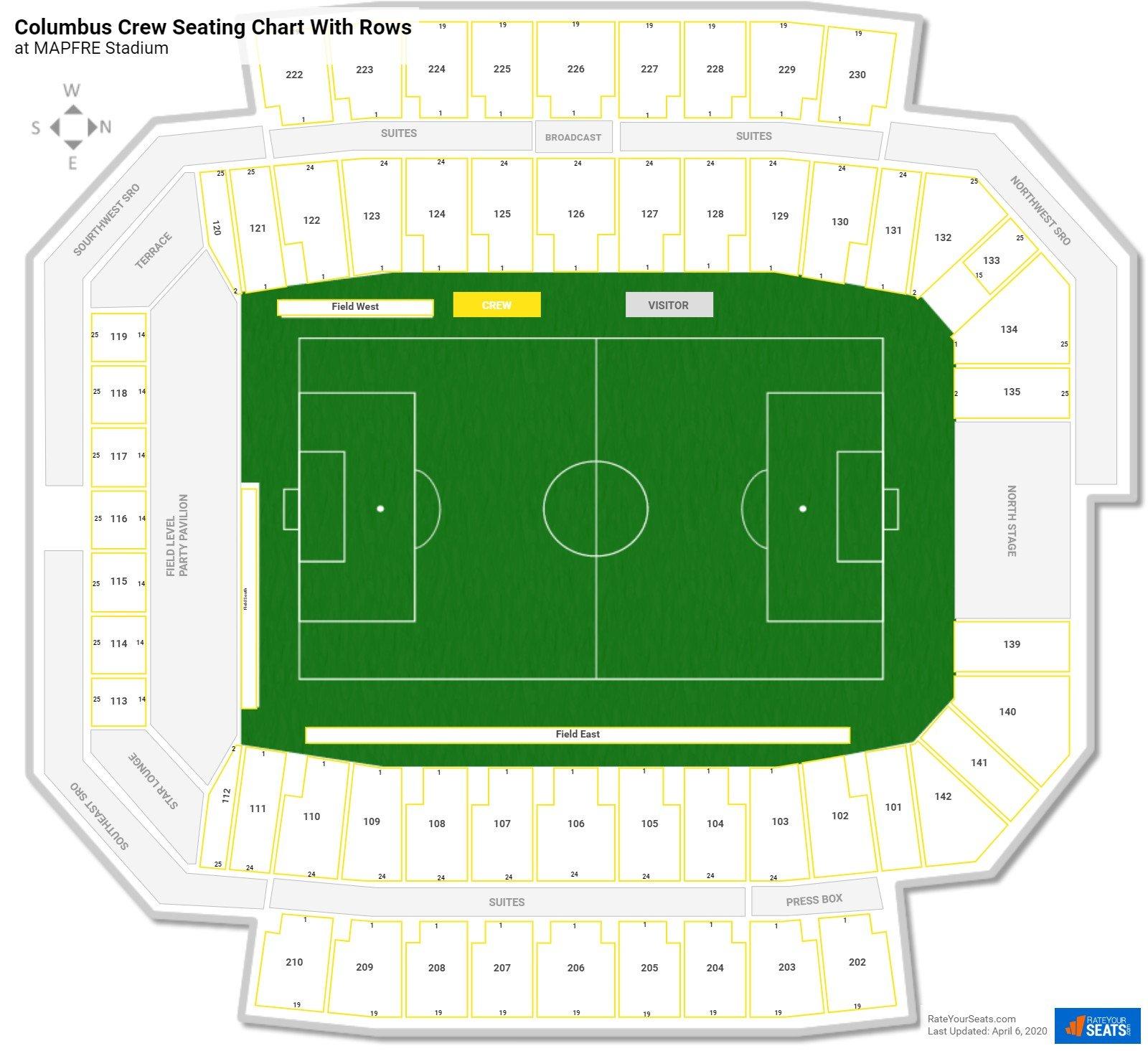 mapfre stadium seating for crew games - rateyourseats