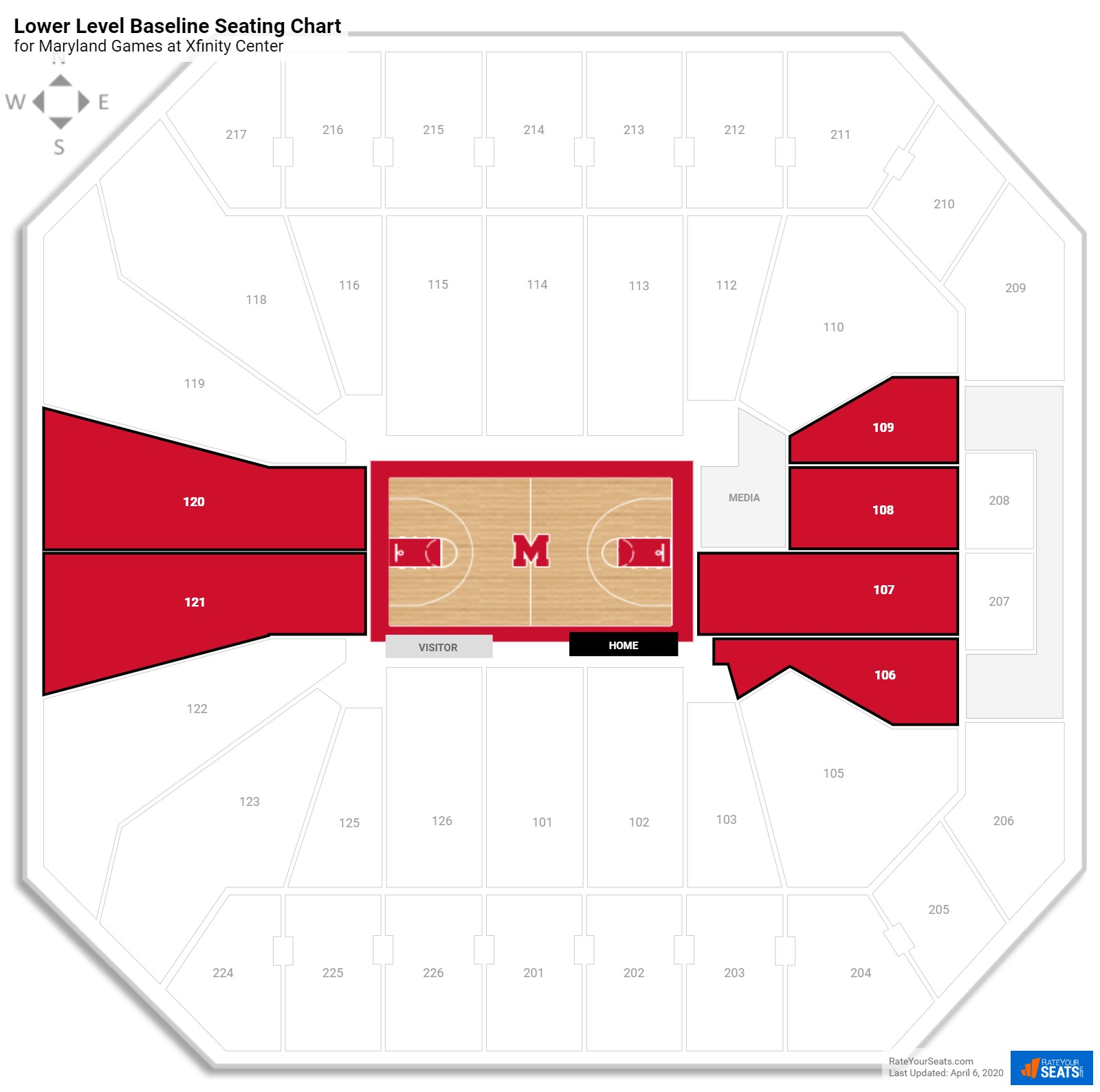 Comcast Center (Maryland) Seating Guide