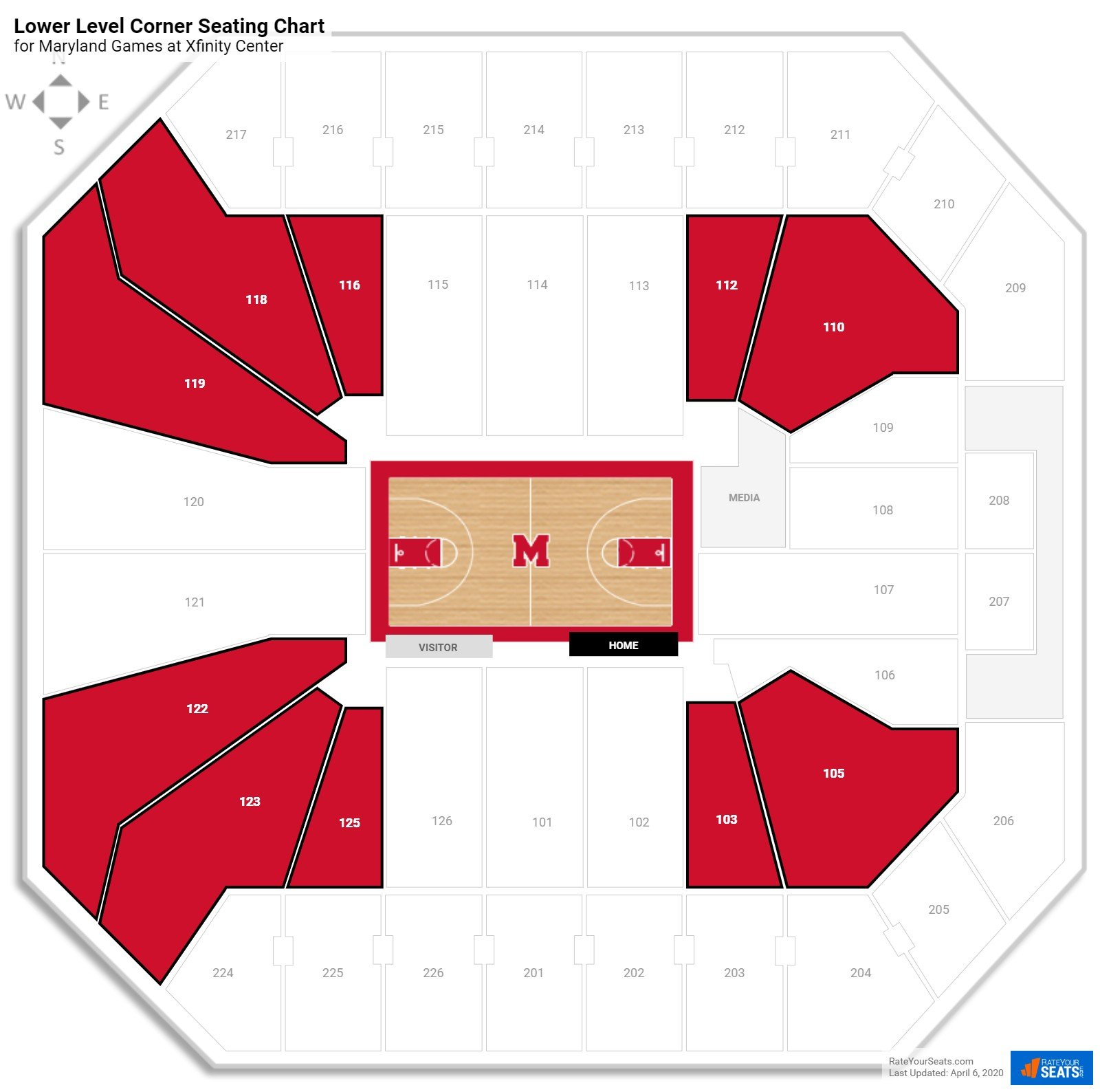 Comcast Center Lower Level Corner seating chart