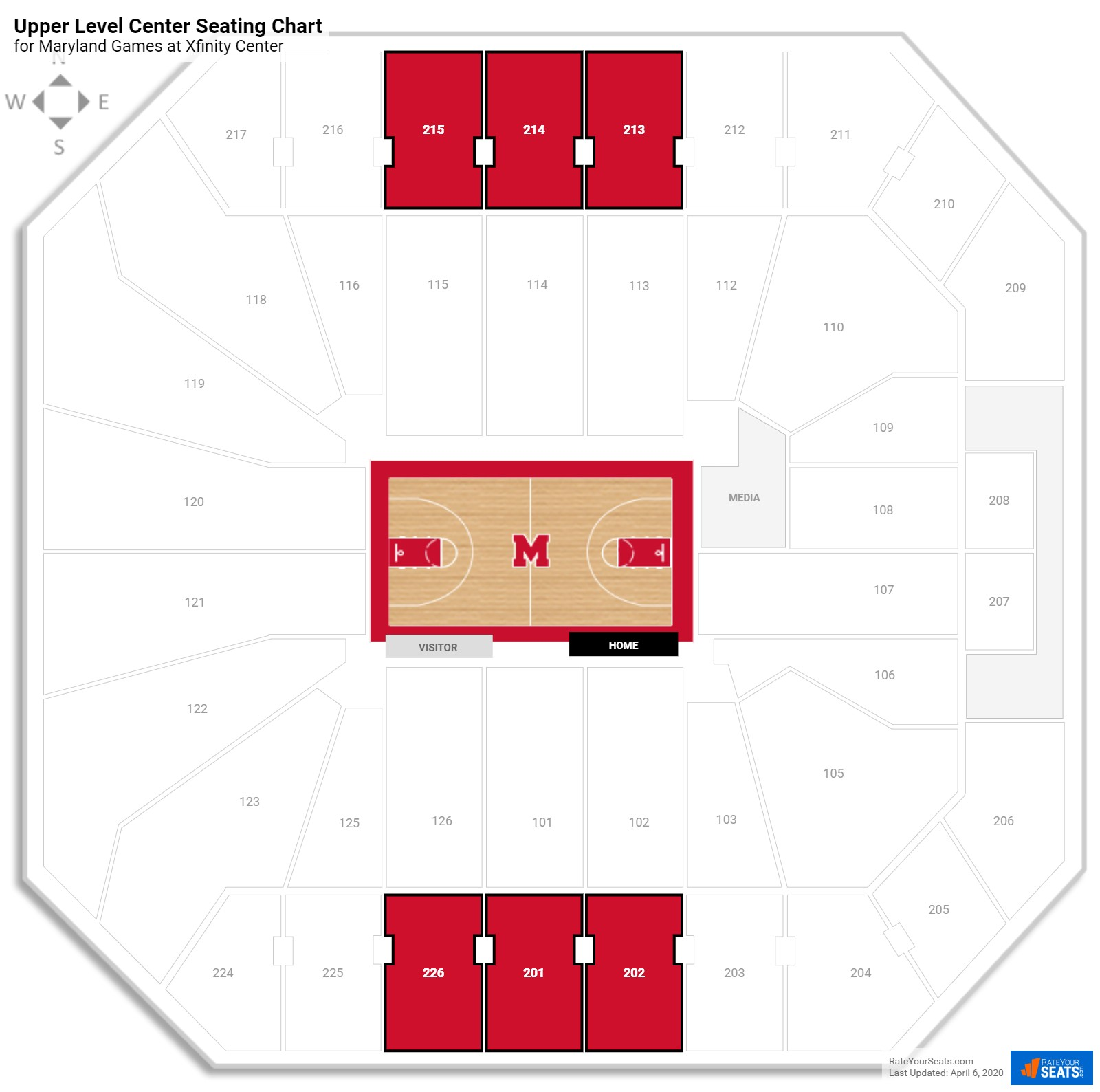 Comcast Center (Maryland) Seating Guide - RateYourSeats com