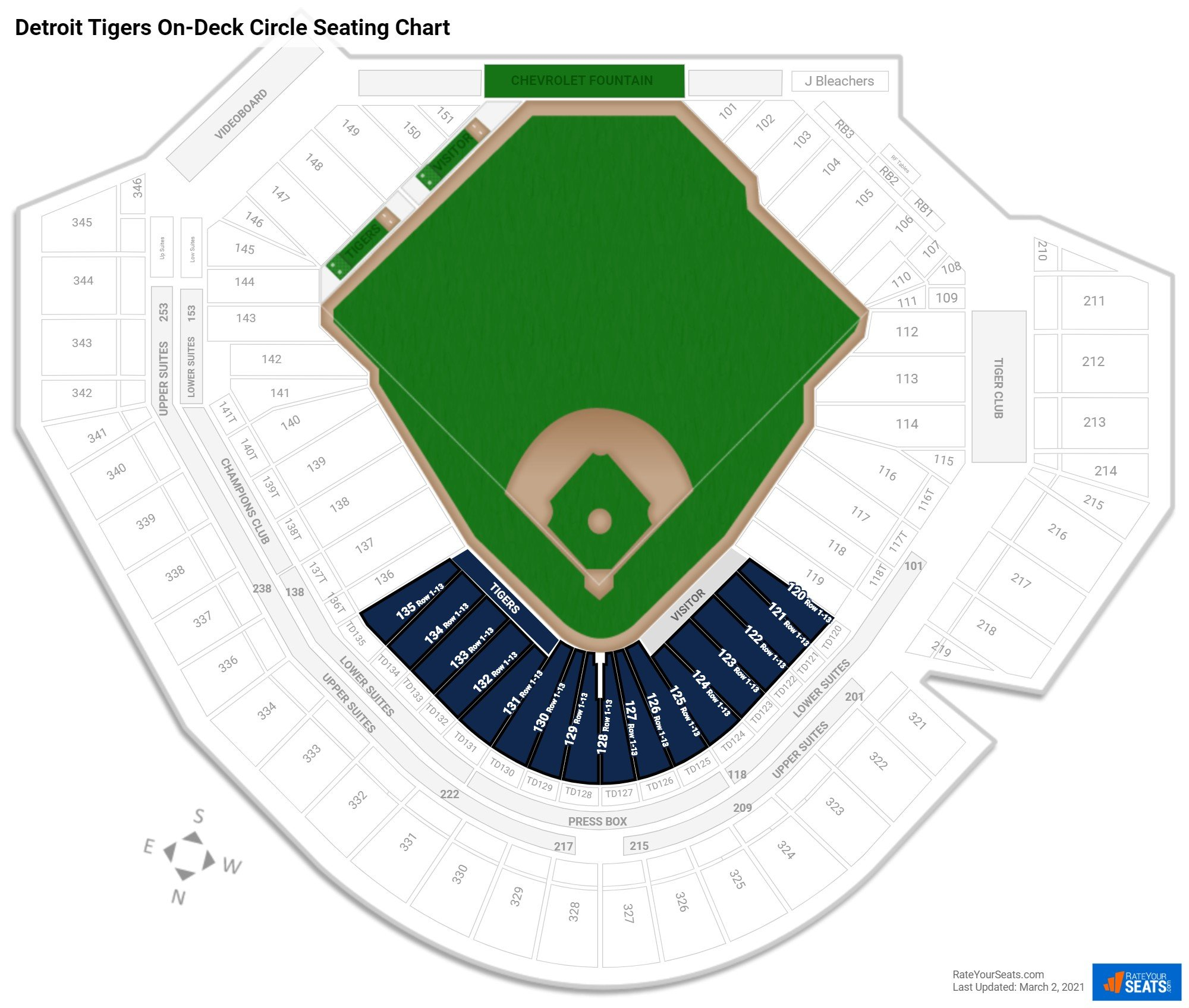 Comerica Park Detroit Michigan: Club And Premium Seating At Comerica Park