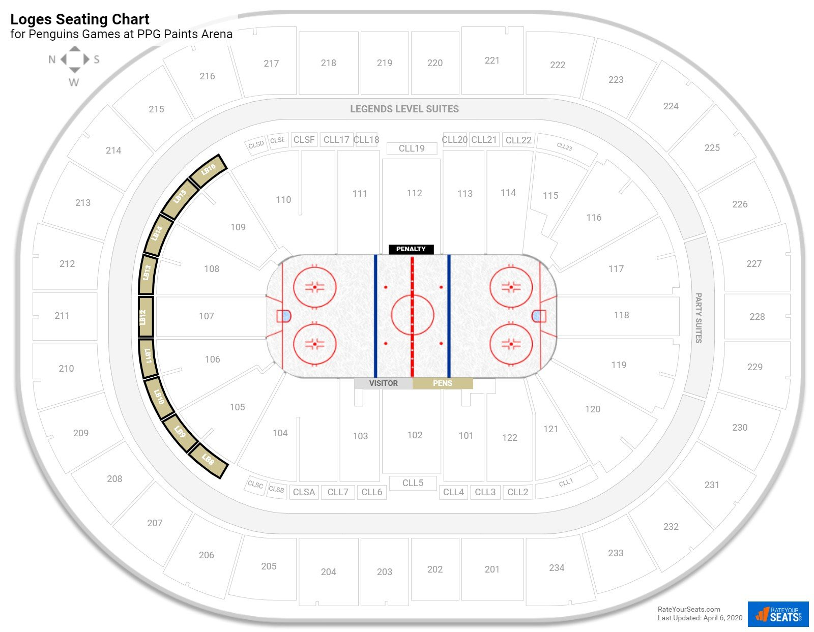 Consol Energy Center Loge Boxes seating chart