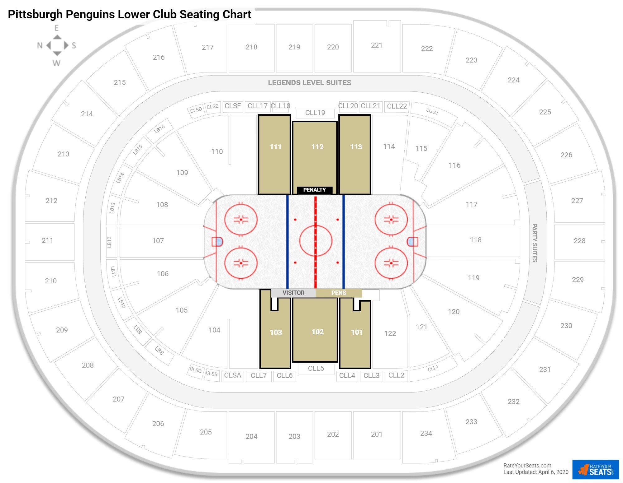 Club And Premium Seating At Ppg Paints Arena