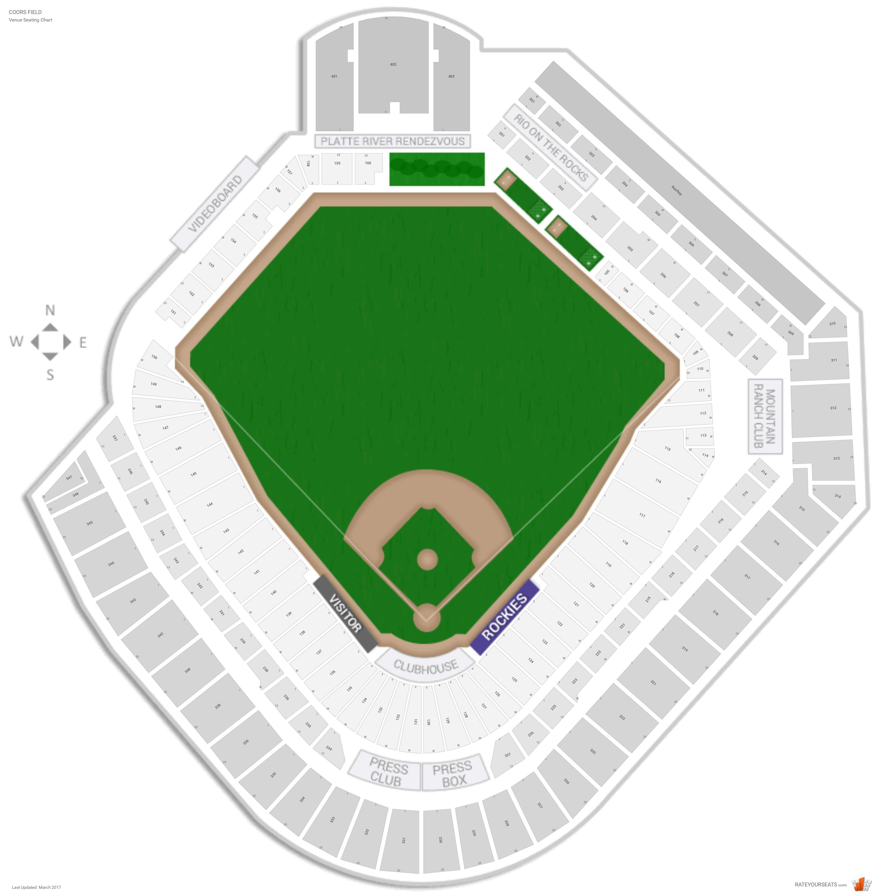Colorado rockies seating guide coors field rateyourseats com