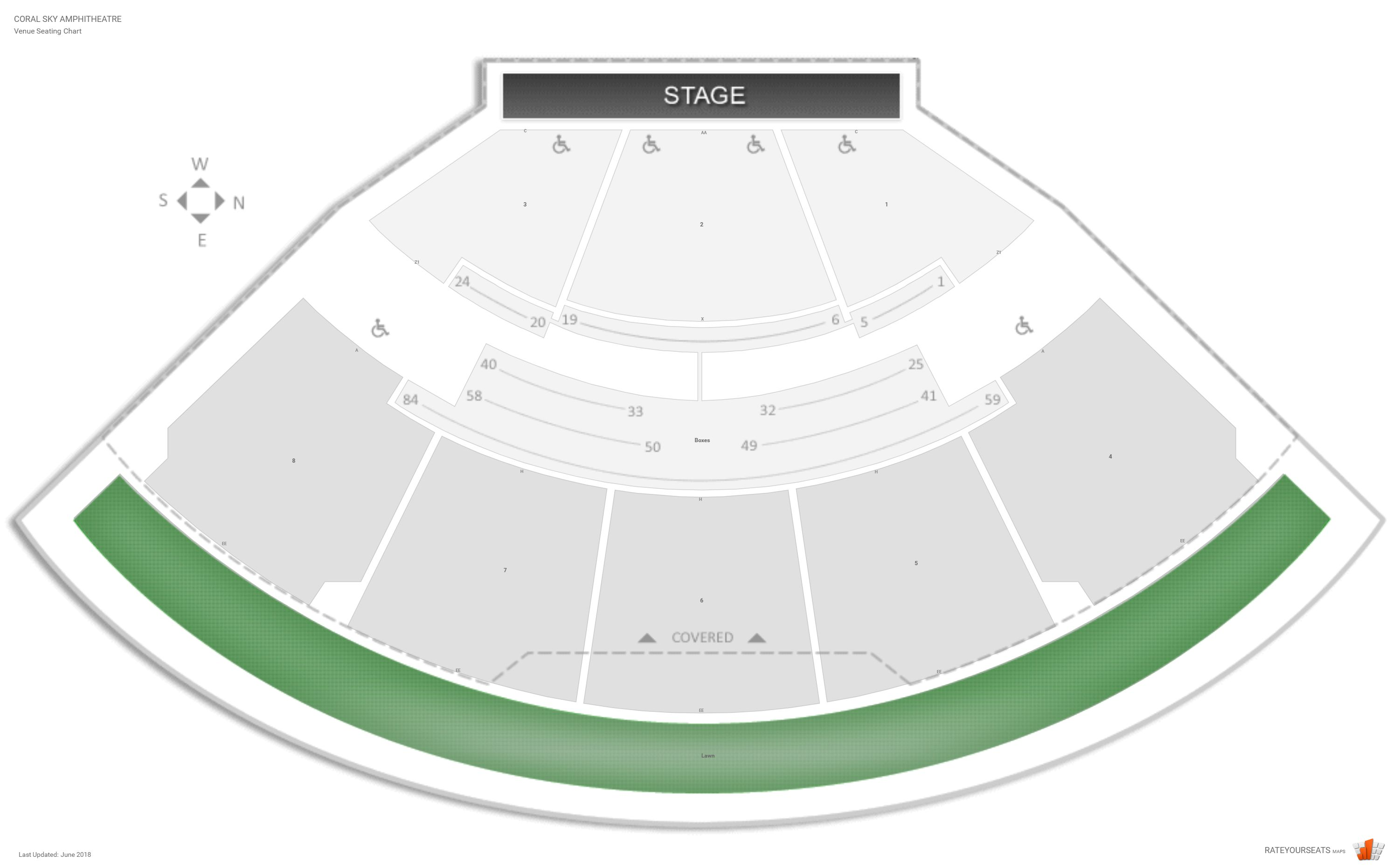 C Sky Amphitheatre Seating Chart With Row Numbers
