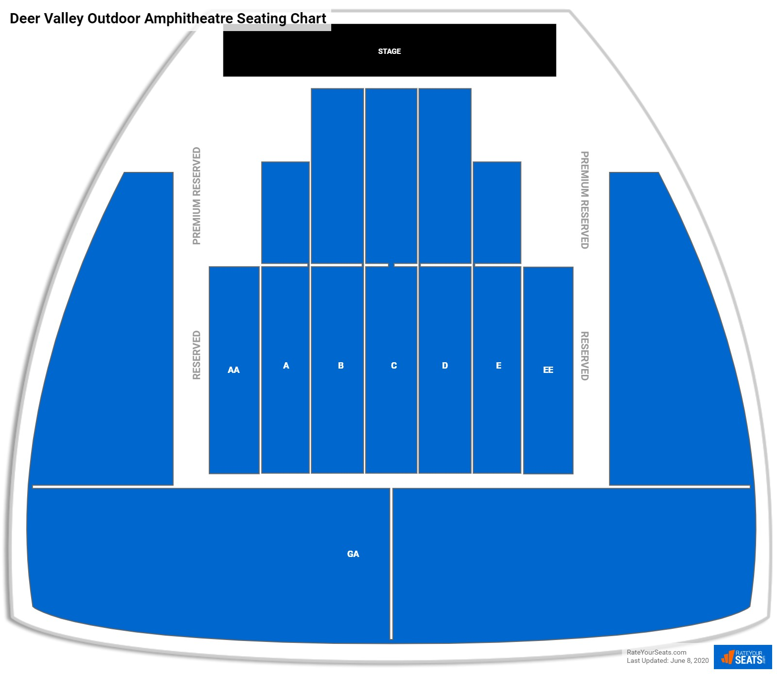 Deer Valley Outdoor Amphitheatre Seating Chart