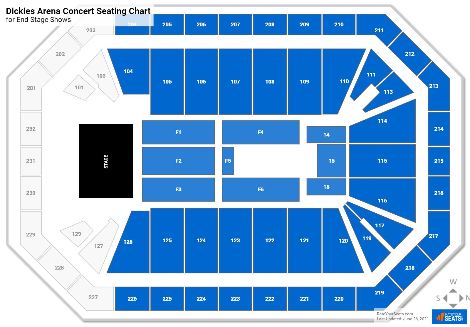 Dickies Arena Seating Chart for Concerts