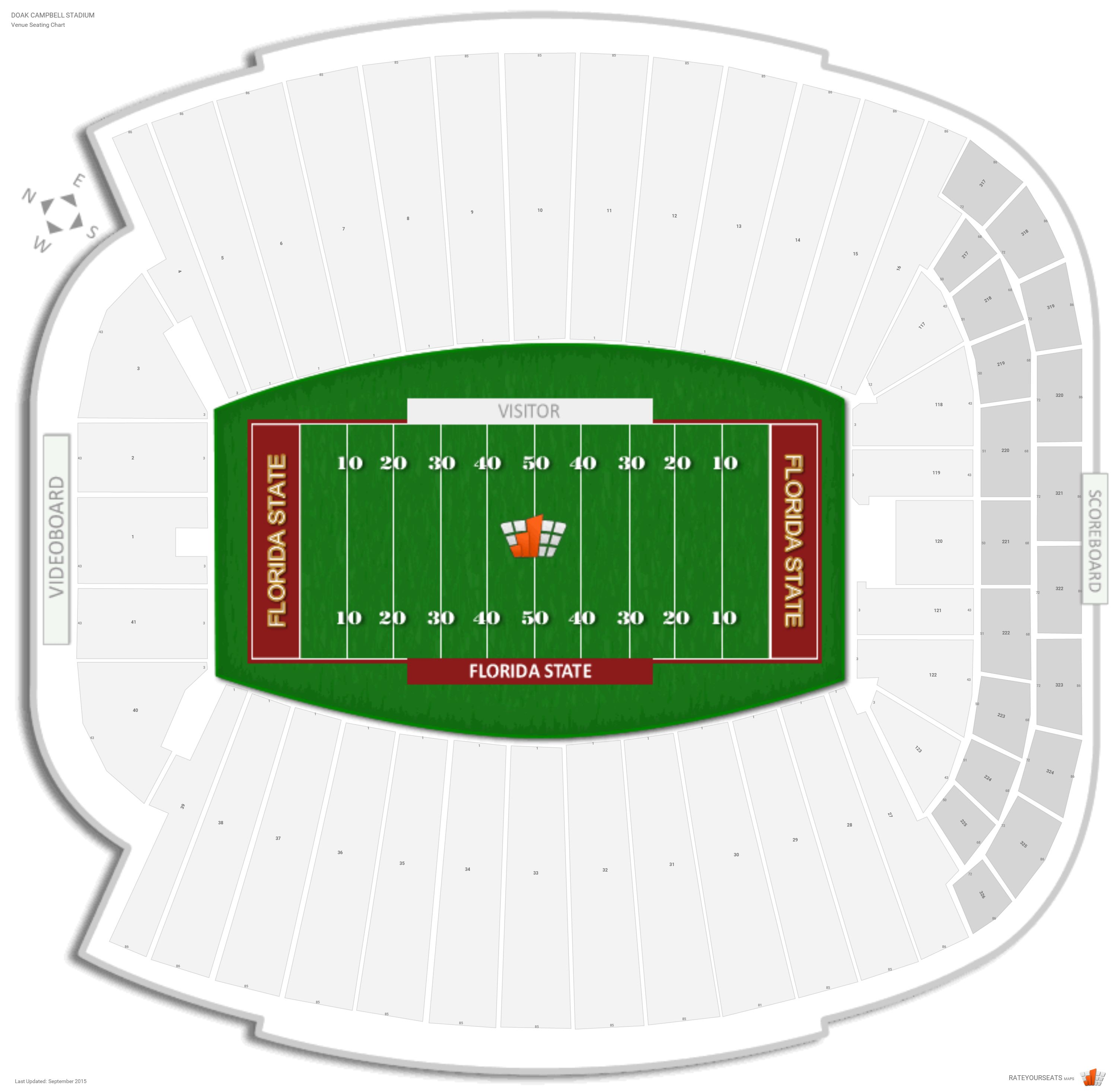 Doak Campbell Stadium Seating Chart With Row Numbers