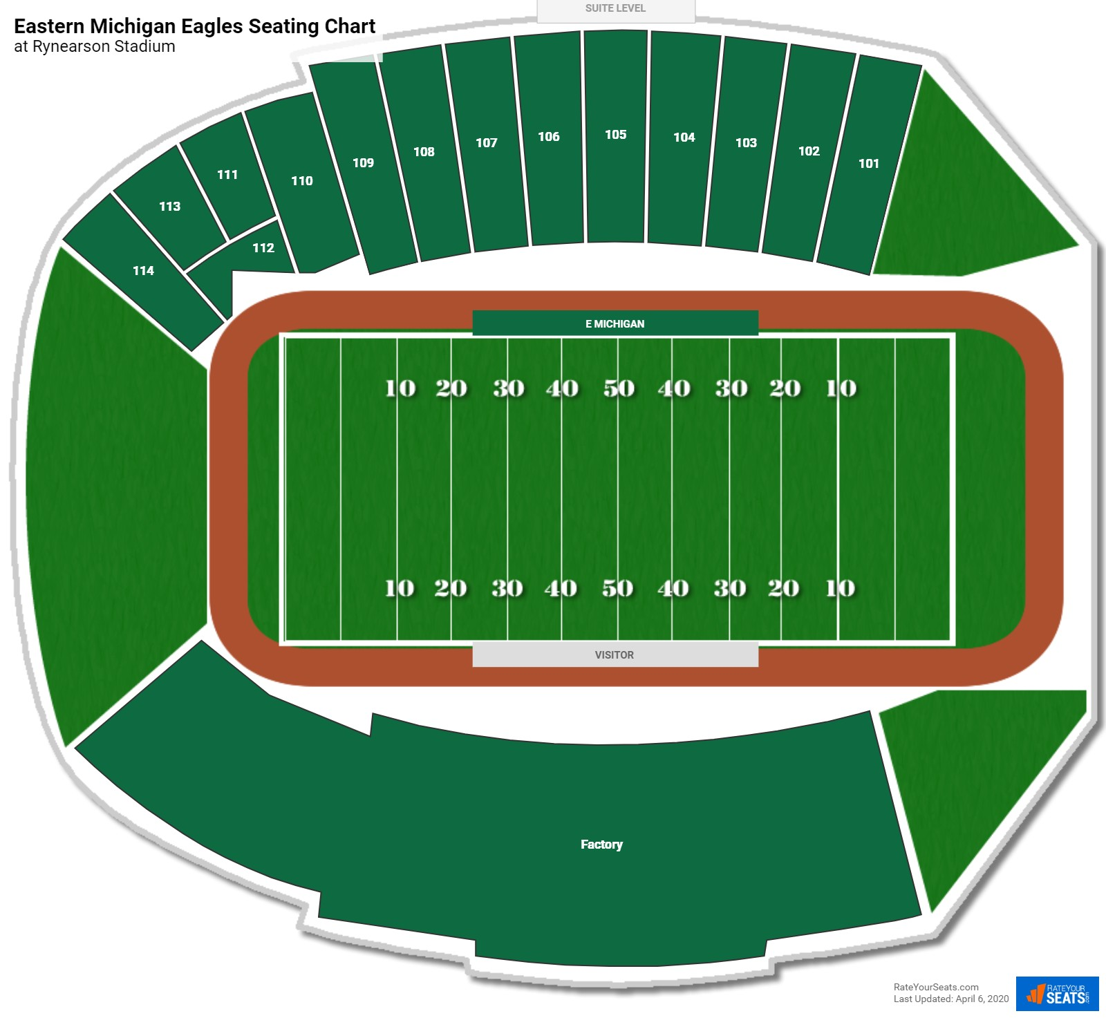 Eastern Michigan Football Seating Chart