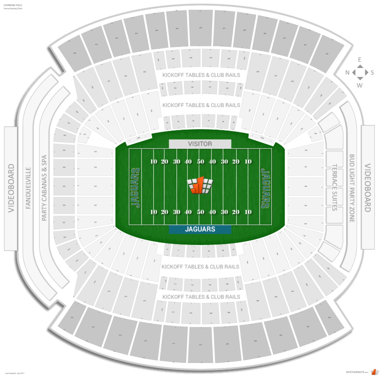 Jacksonville Jaguars Seating Guide - Tiaa Bank Field