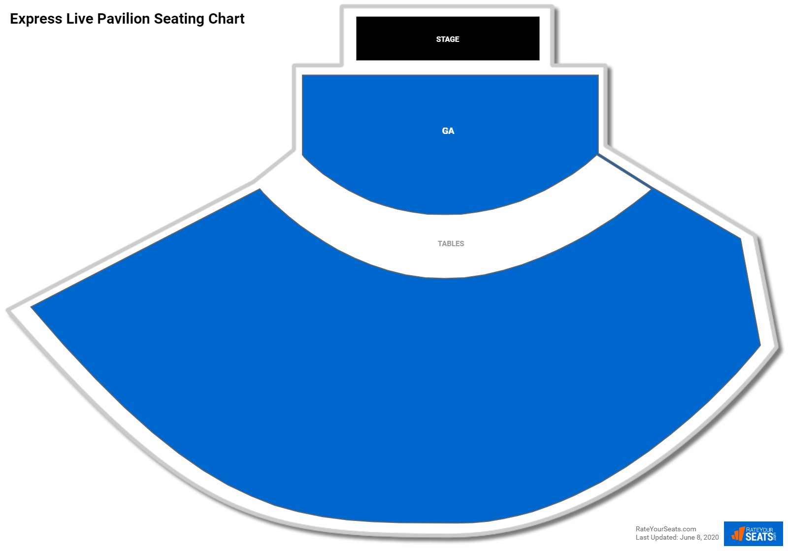 Express Live Pavilion Seating Chart