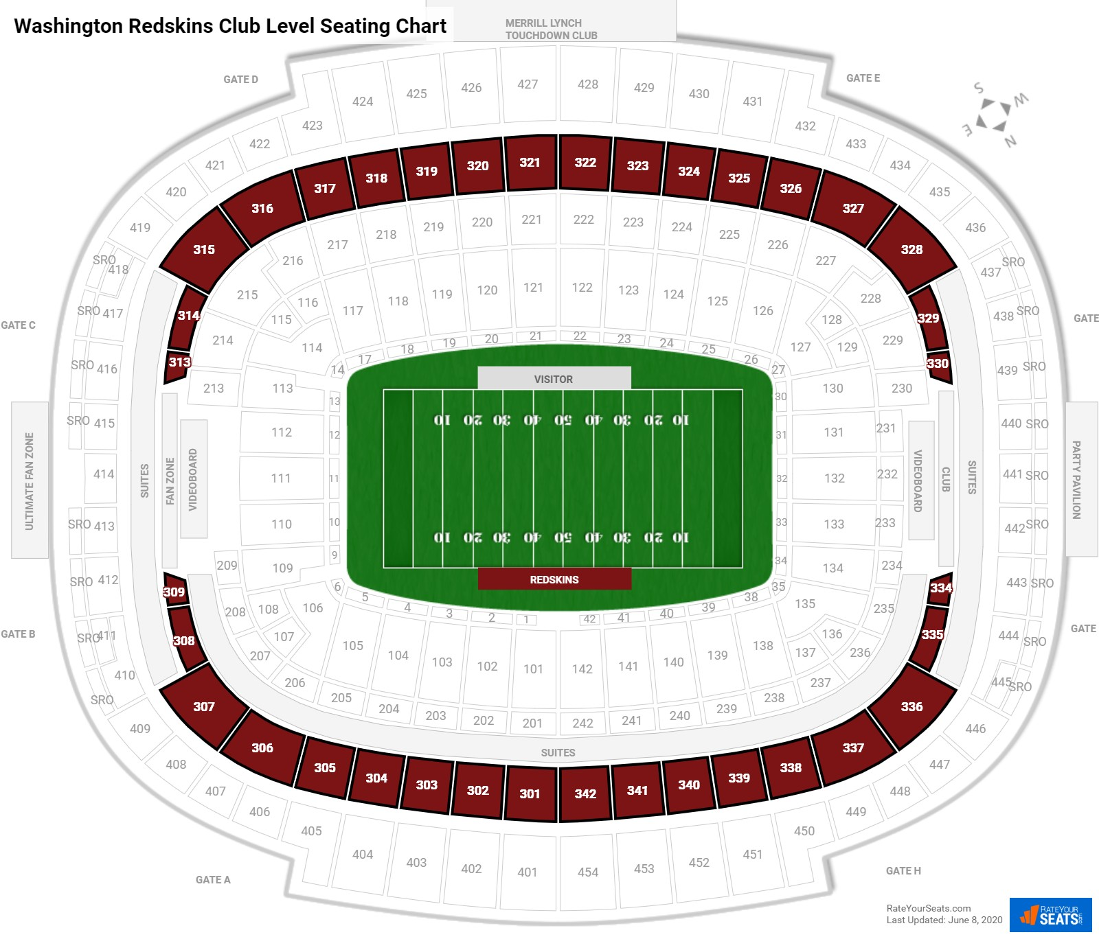 FedExField  seating chart