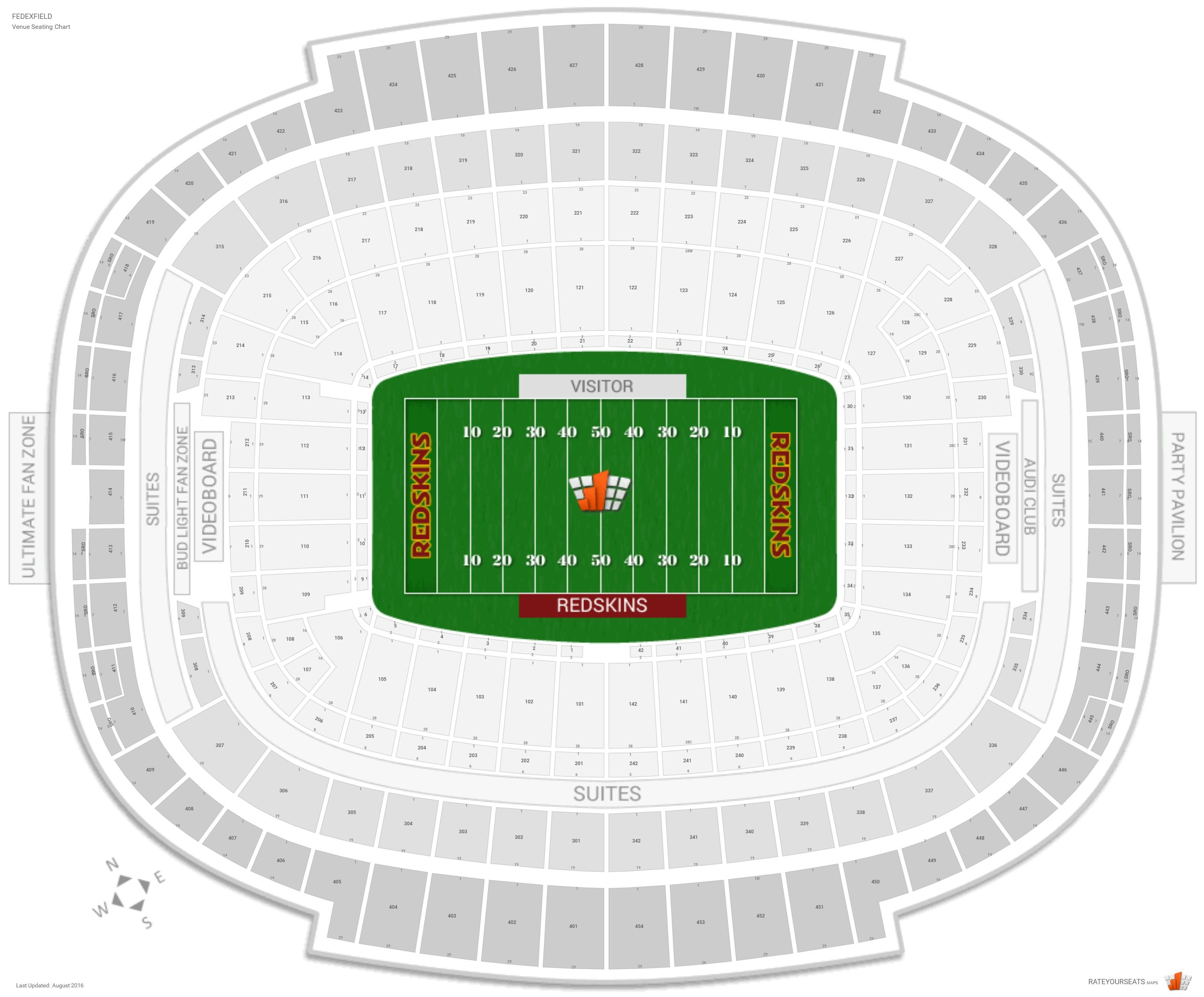 washington redskins seating guide - fedexfield ... diagram of maturation of follicle diagram of fedex field
