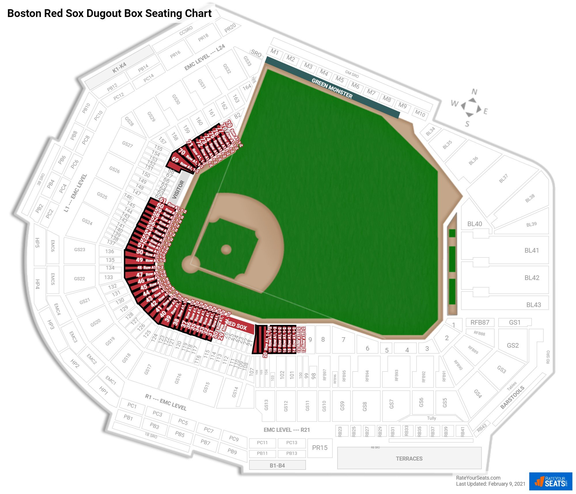 Fenway Park  seating chart