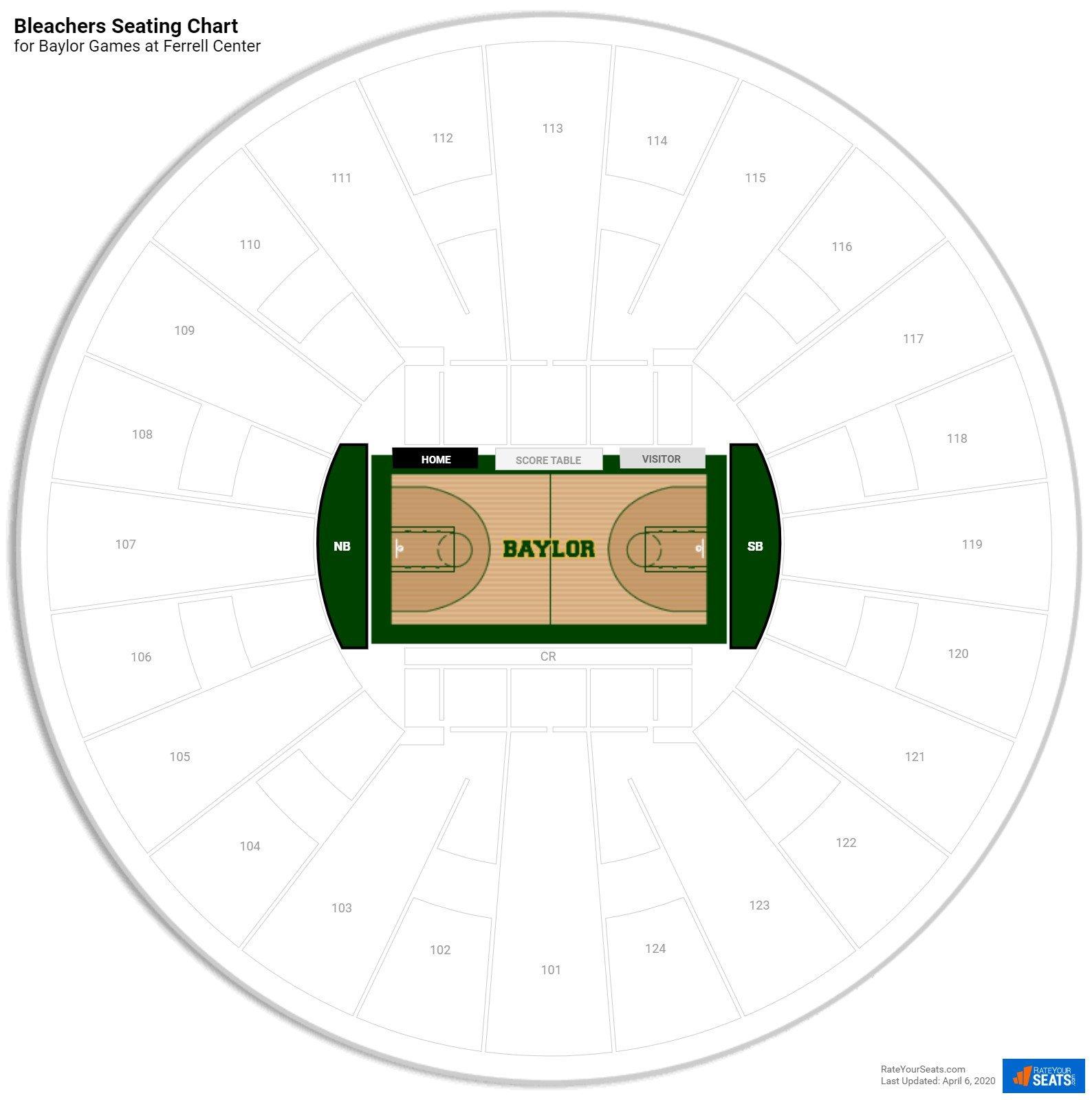 Ferrell Center Bleachers Seating Chart