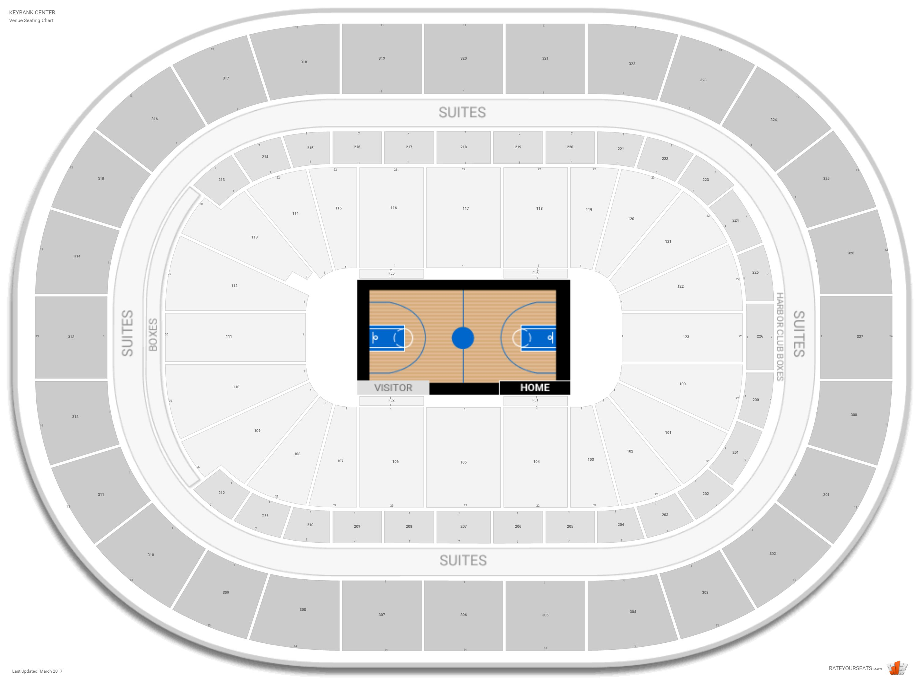 Keybank Center Seating Chart With Row Numbers
