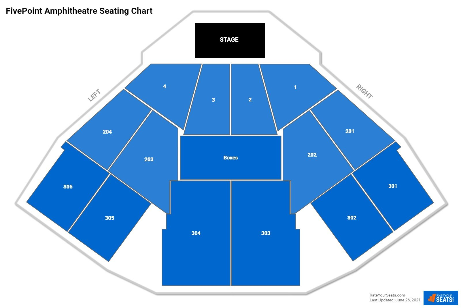 FivePoint Amphitheatre Seating Chart
