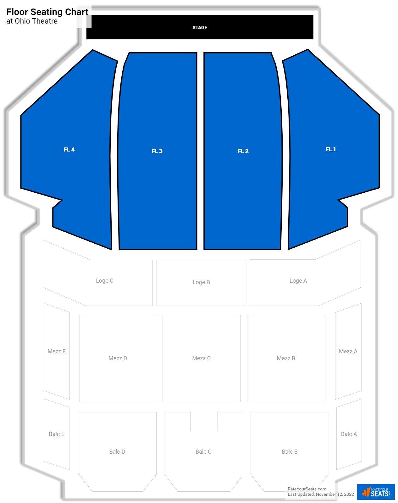 Ohio Theatre Floor Theater Seating Rateyourseats Com
