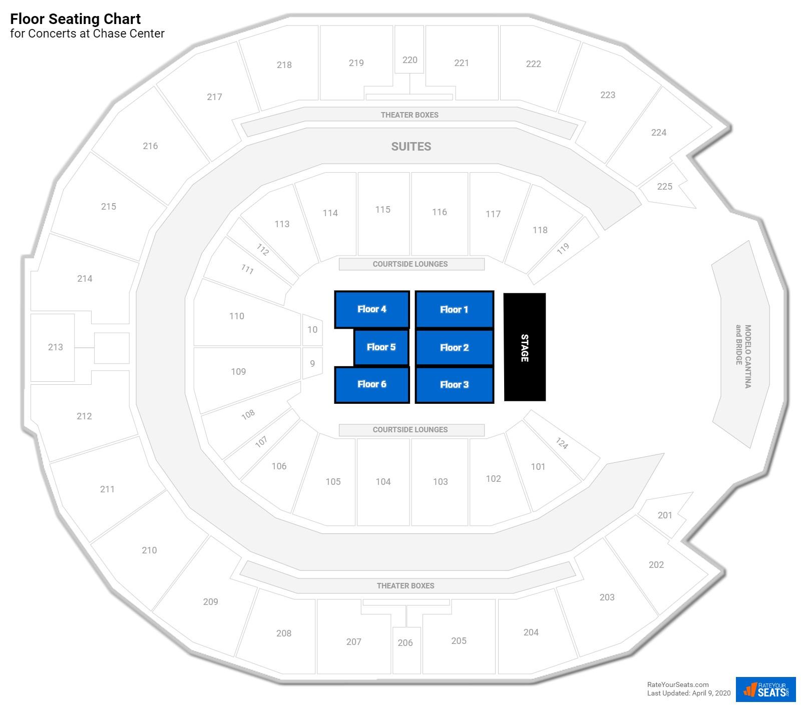 Chase Center Floor Concert Seating Rateyourseats Com