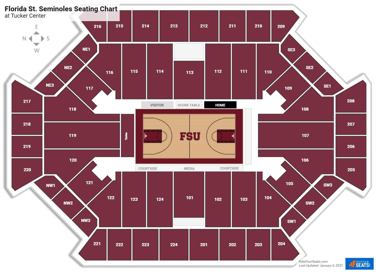 Florida State Basketball Seating Chart