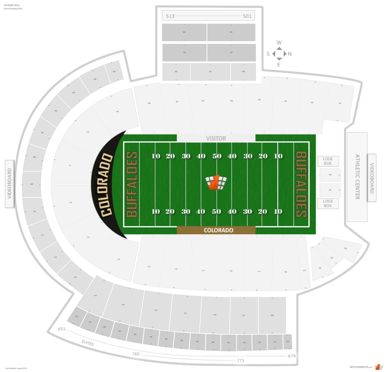 Folsom field colorado seating guide rateyourseats com