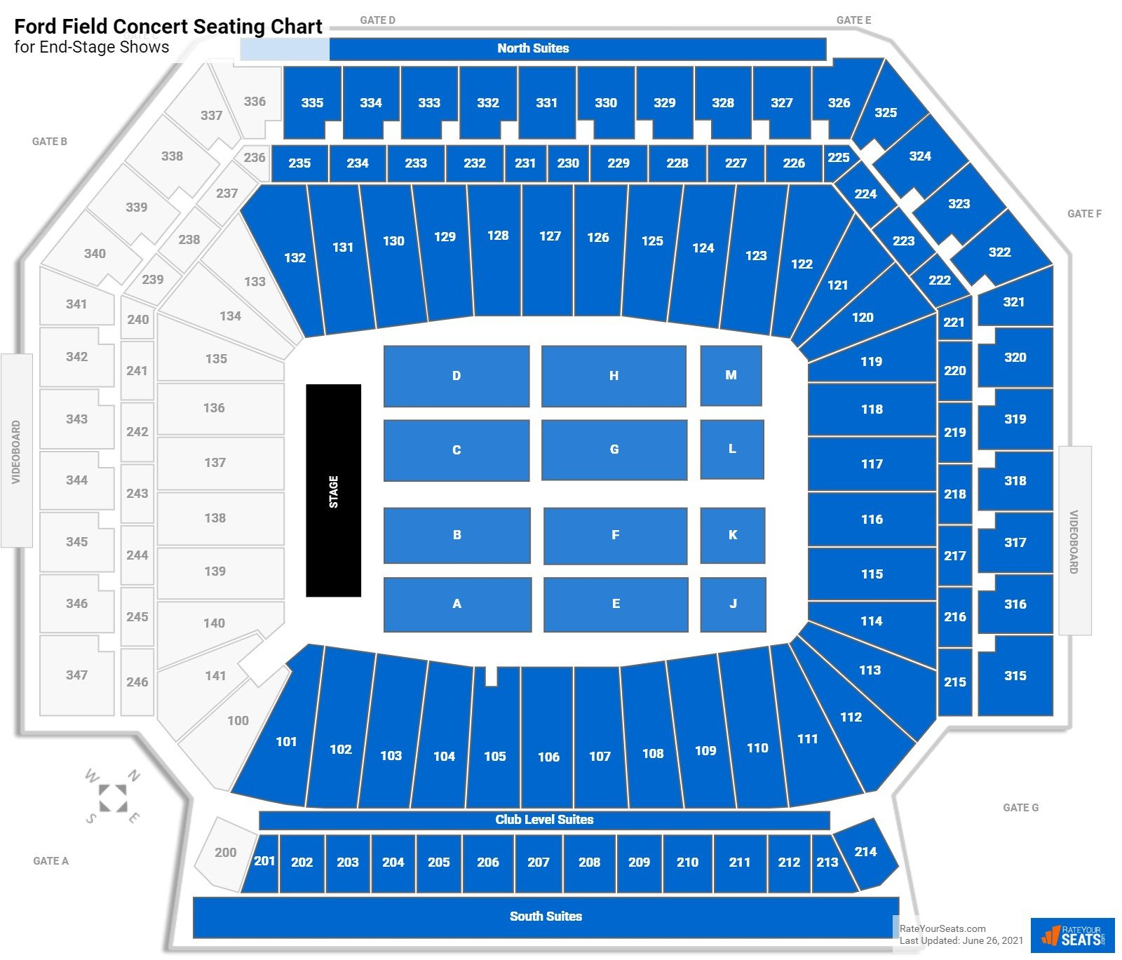 Ford Field Seating Chart for Concerts