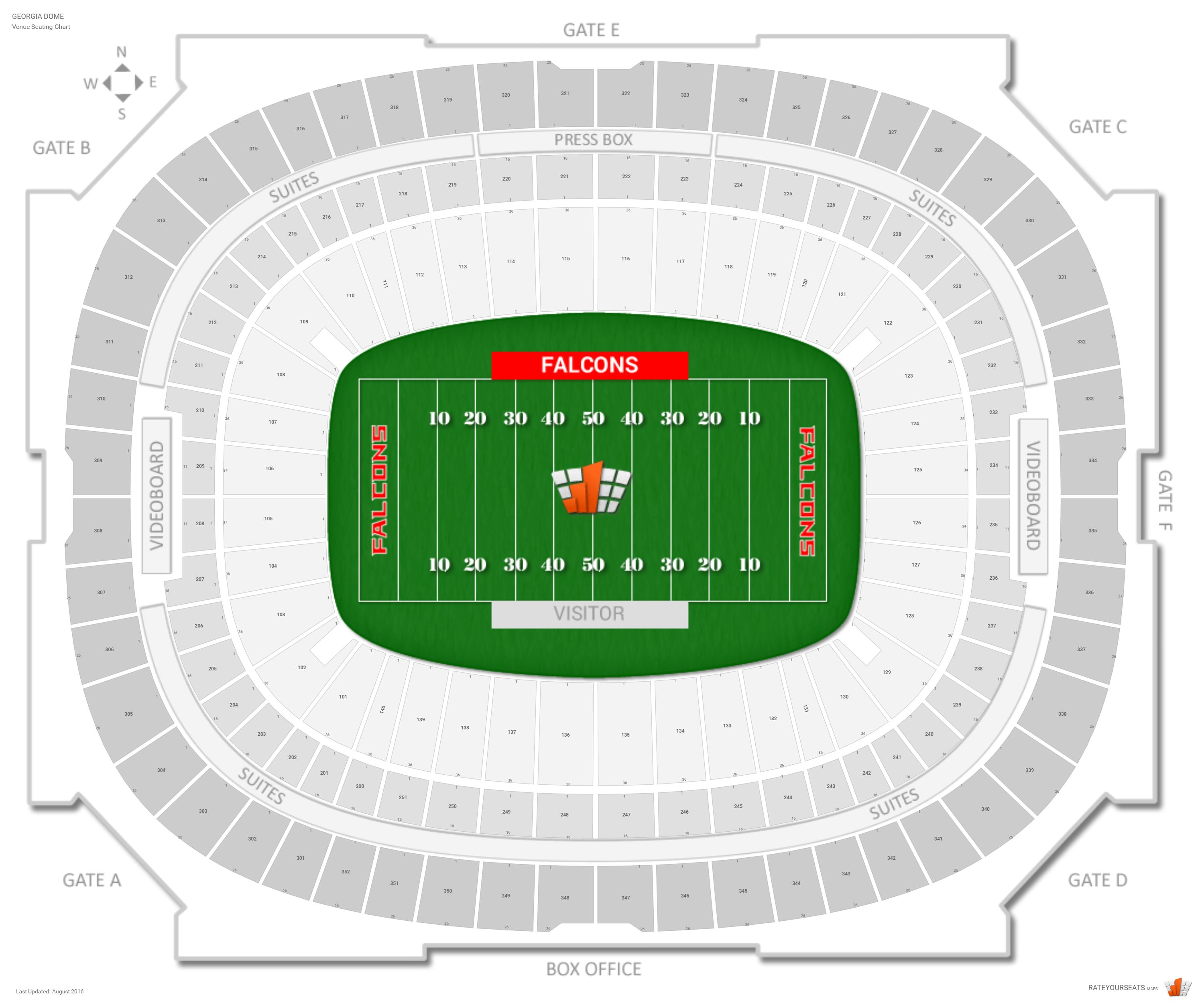 Georgia dome seating guide rateyourseats com