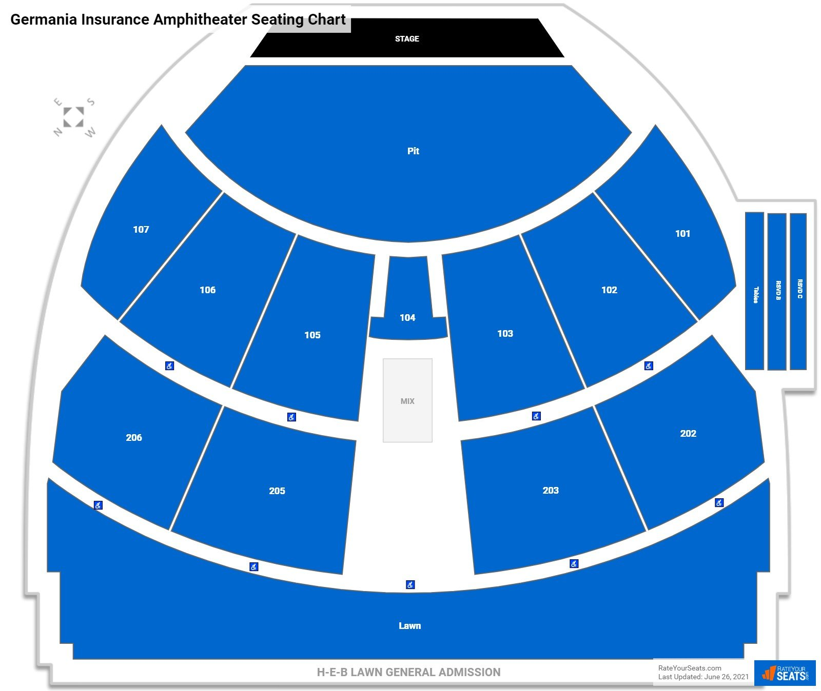 Germania Insurance Amphitheater Seating Chart
