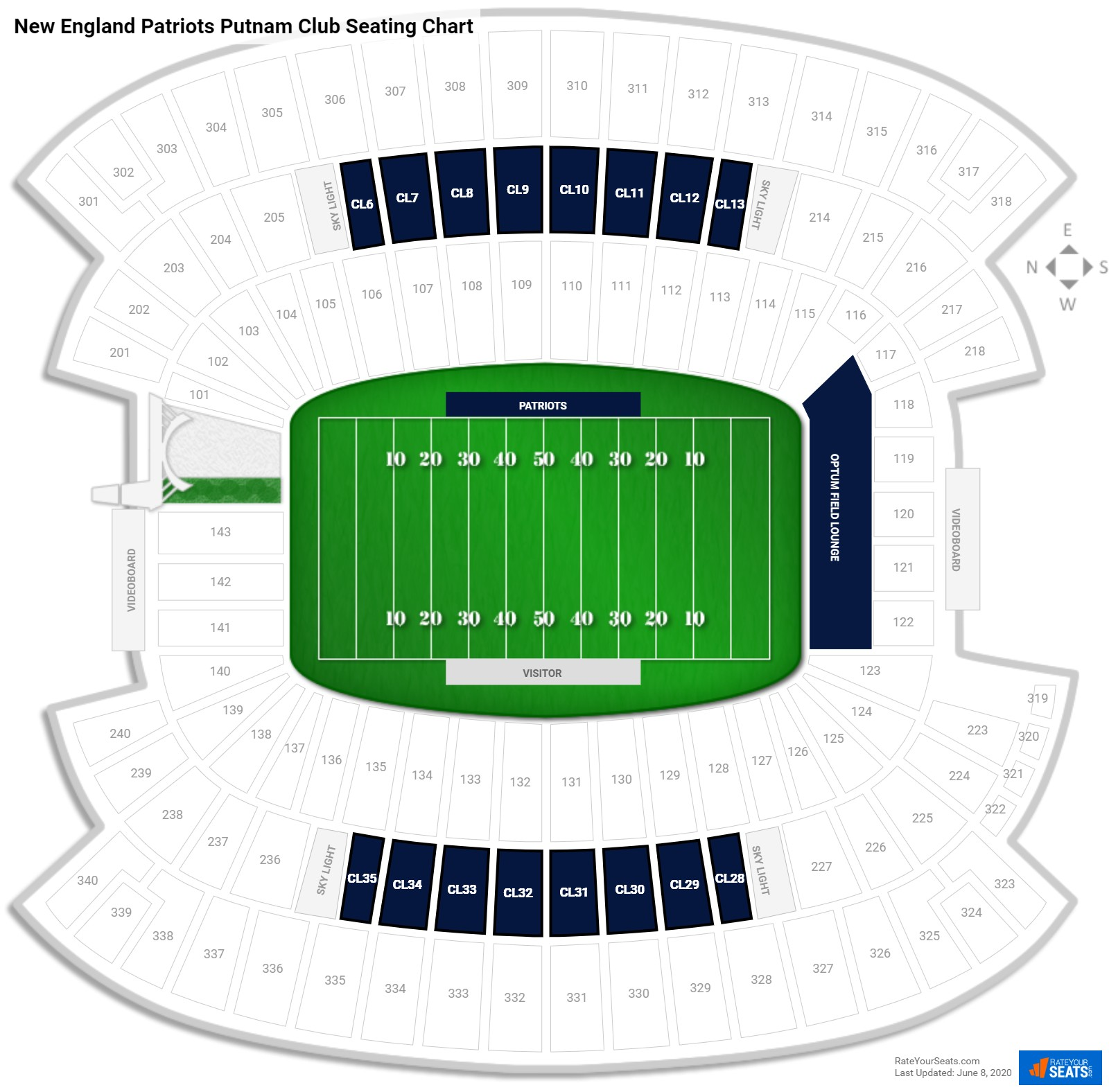 Gillette Stadium  seating chart