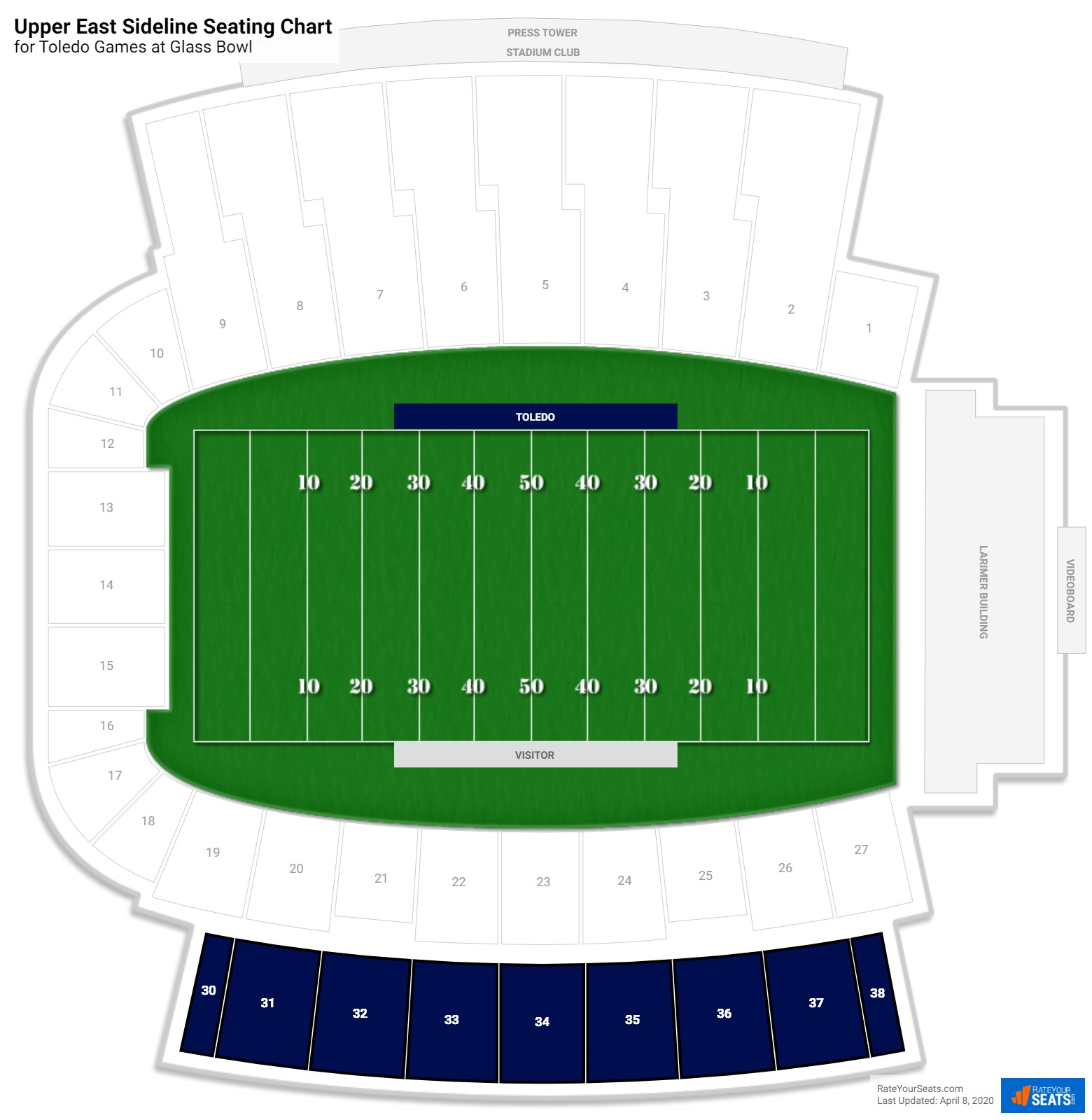 Glass Bowl Upper East Sideline seating chart