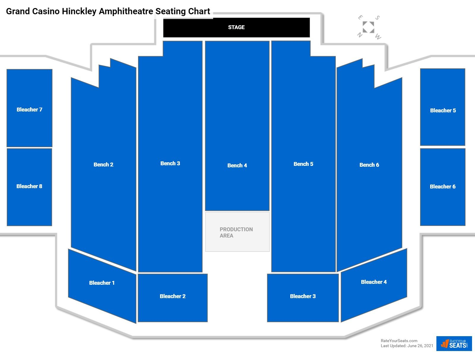 Grand Casino Hinckley Amphitheatre Seating Chart