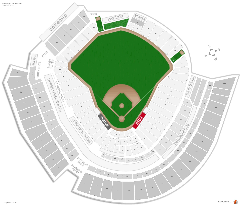 Cincinnati Reds Seating Guide Great American Ball Park