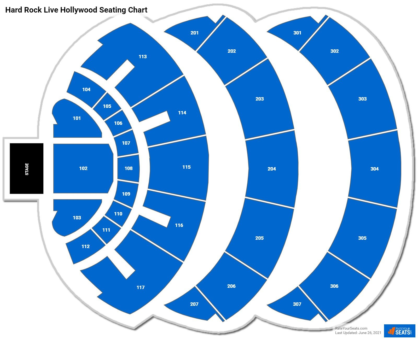 Hard Rock Live Hollywood Seating Chart