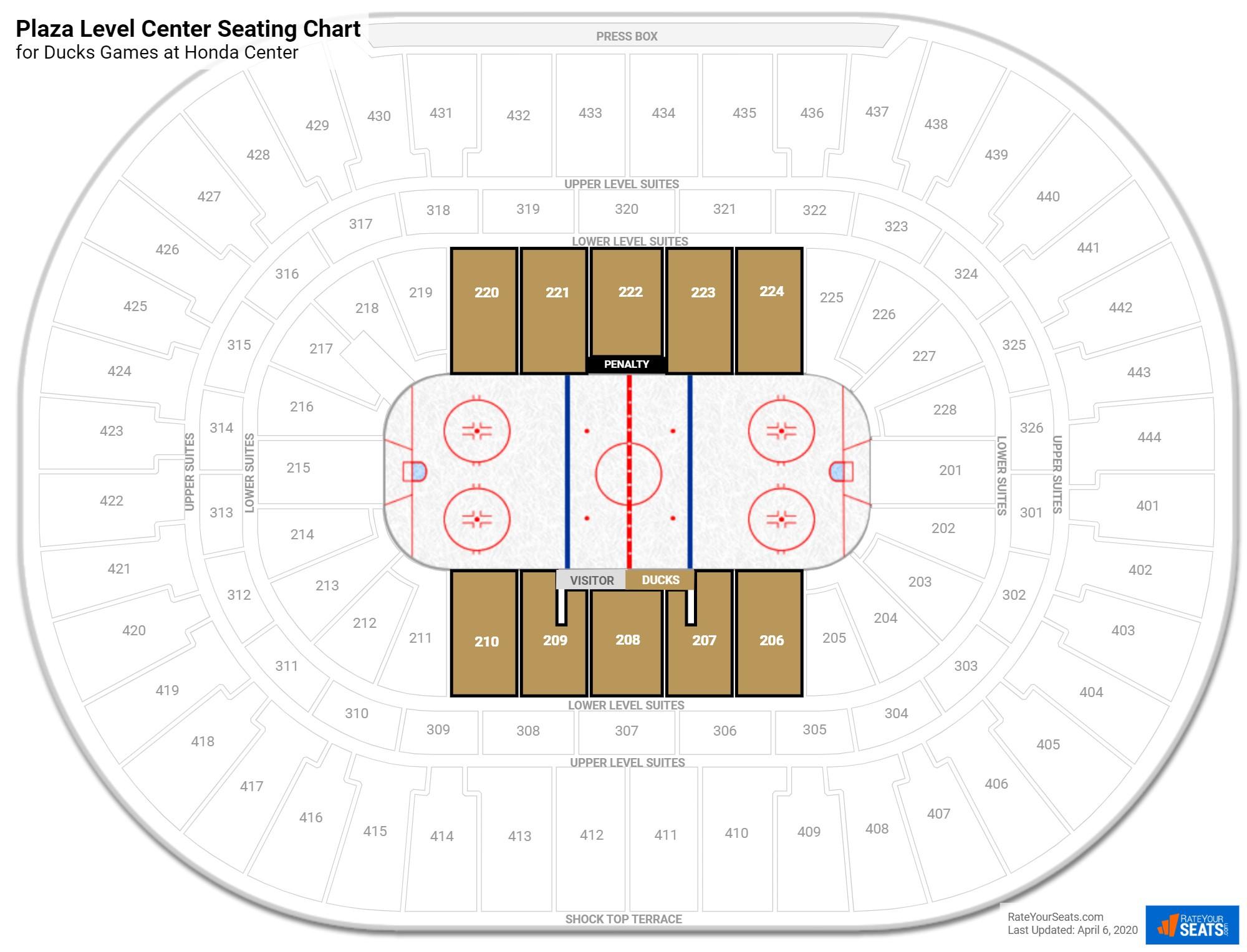 Honda Center Terrace Level Center Hockey Seating Rateyourseatscom