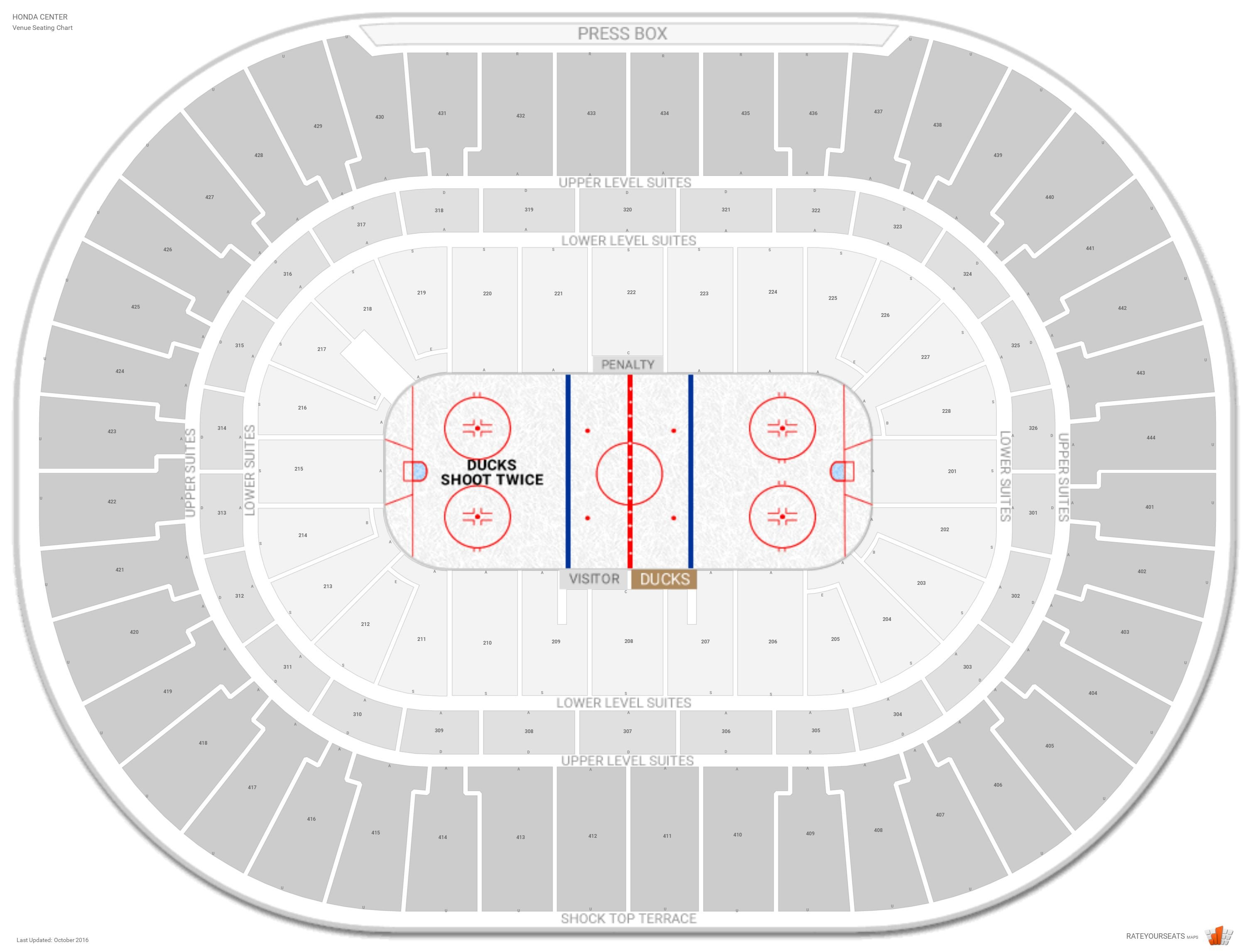 Honda Center Seating Chart With Row Numbers
