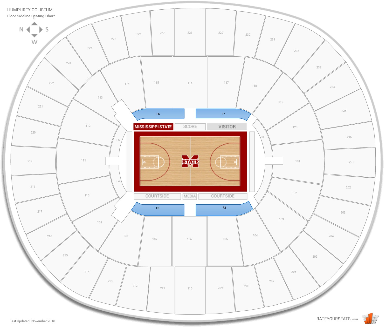 Humphrey coliseum mississippi state seating guide rateyourseats com