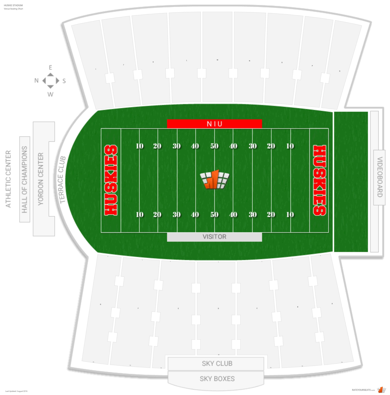 Huskie Stadium Niu Seating Guide