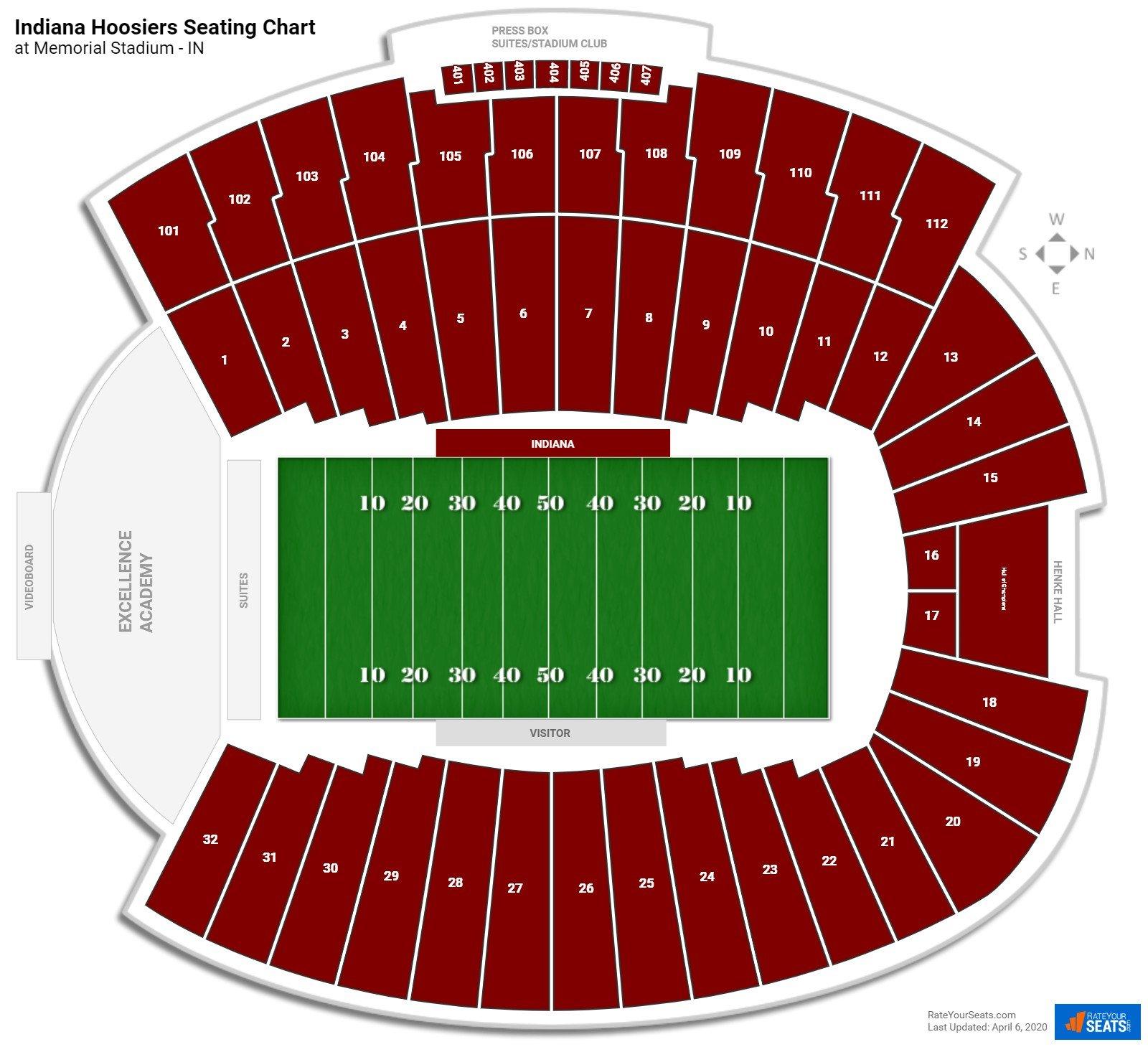 Memorial Stadium - IN Seating Charts - RateYourSeats.com