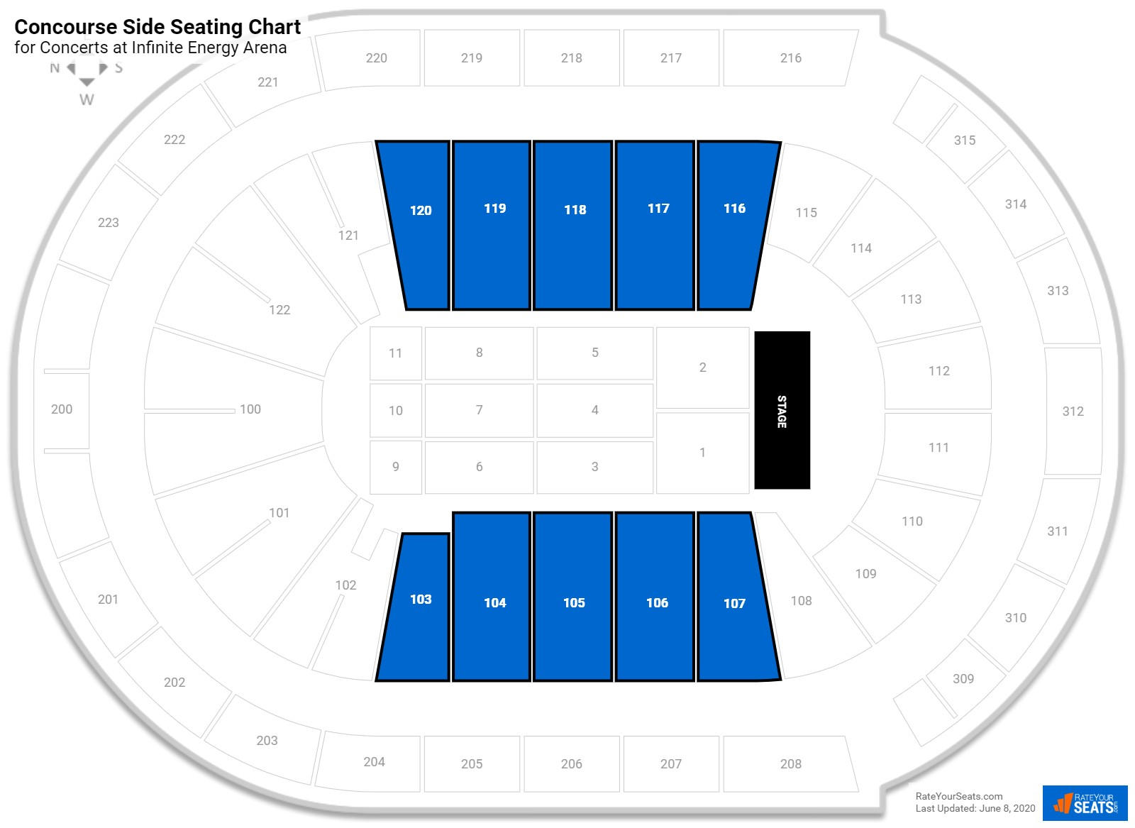 Infinite Energy Arena Concourse Side Seating Chart