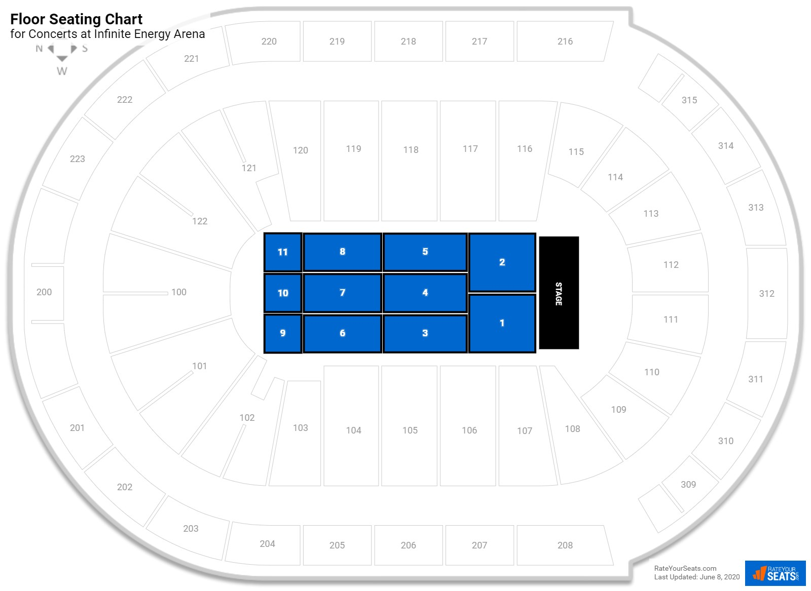 Infinite energy arena seating guide rateyourseats com