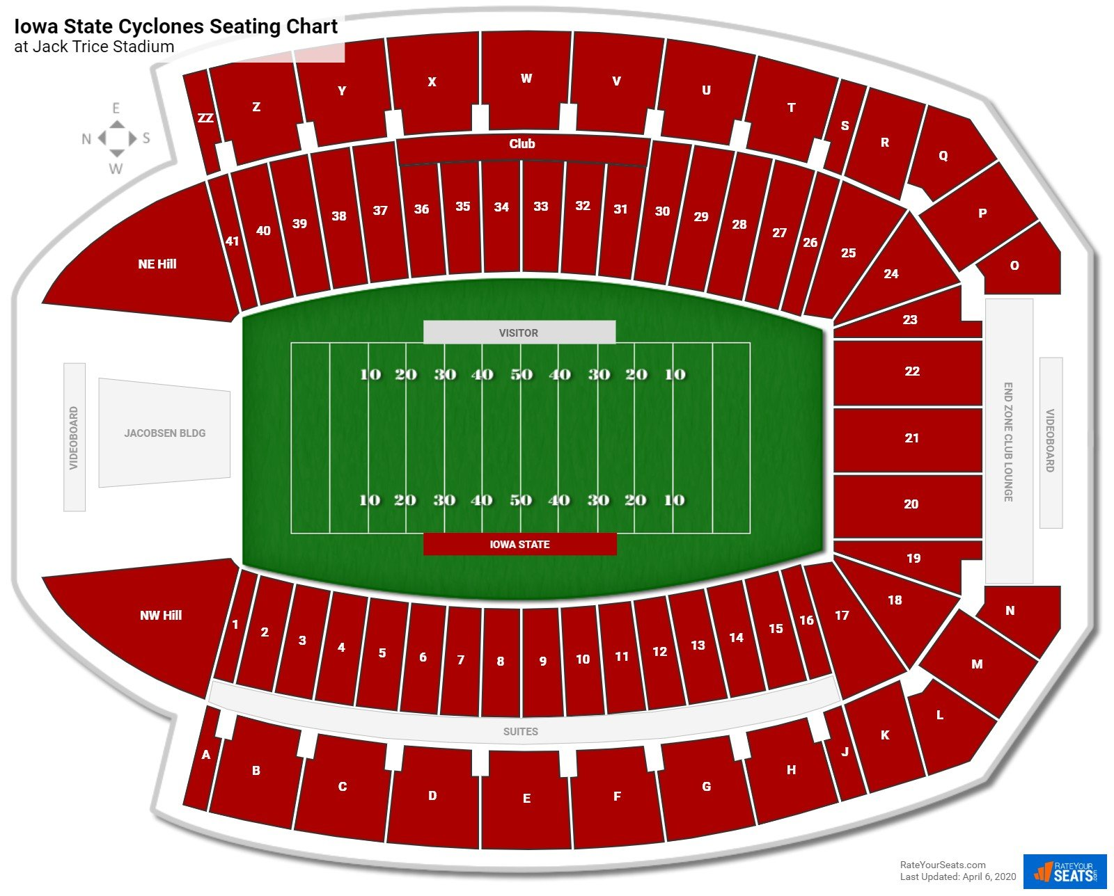 Iowa State Football Seating Chart